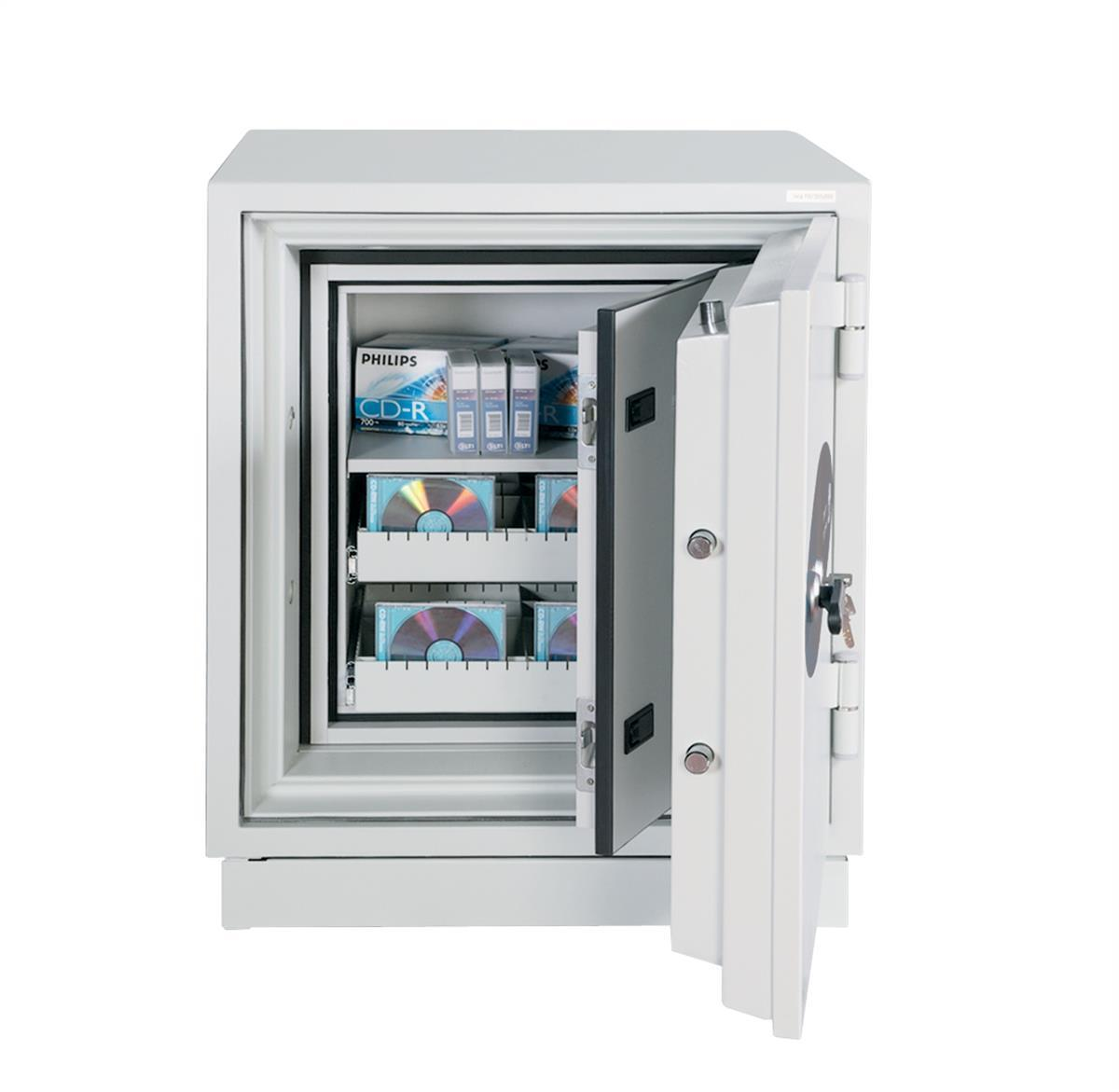 Image for Phoenix Datacare Safe 2 Hour Fire Protection High Quality Key Lock 77L 222kg W690xD720xH855mm Ref DS2003K