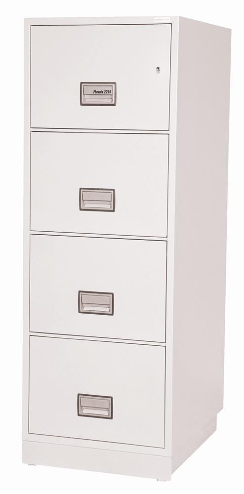 Image for Phoenix Firefile Filing Cabinet Fire Resistant 4 Lockable Drawers 230Kg W530xD675xH1405mm Ref FS2254K