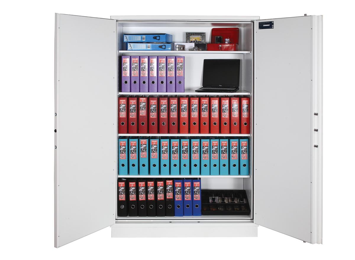 Image for Phoenix Firechief Security Cupboard Fire Resistant 764 Litre Capacity 230kg W1200xD525x1885mm Ref FS1613K