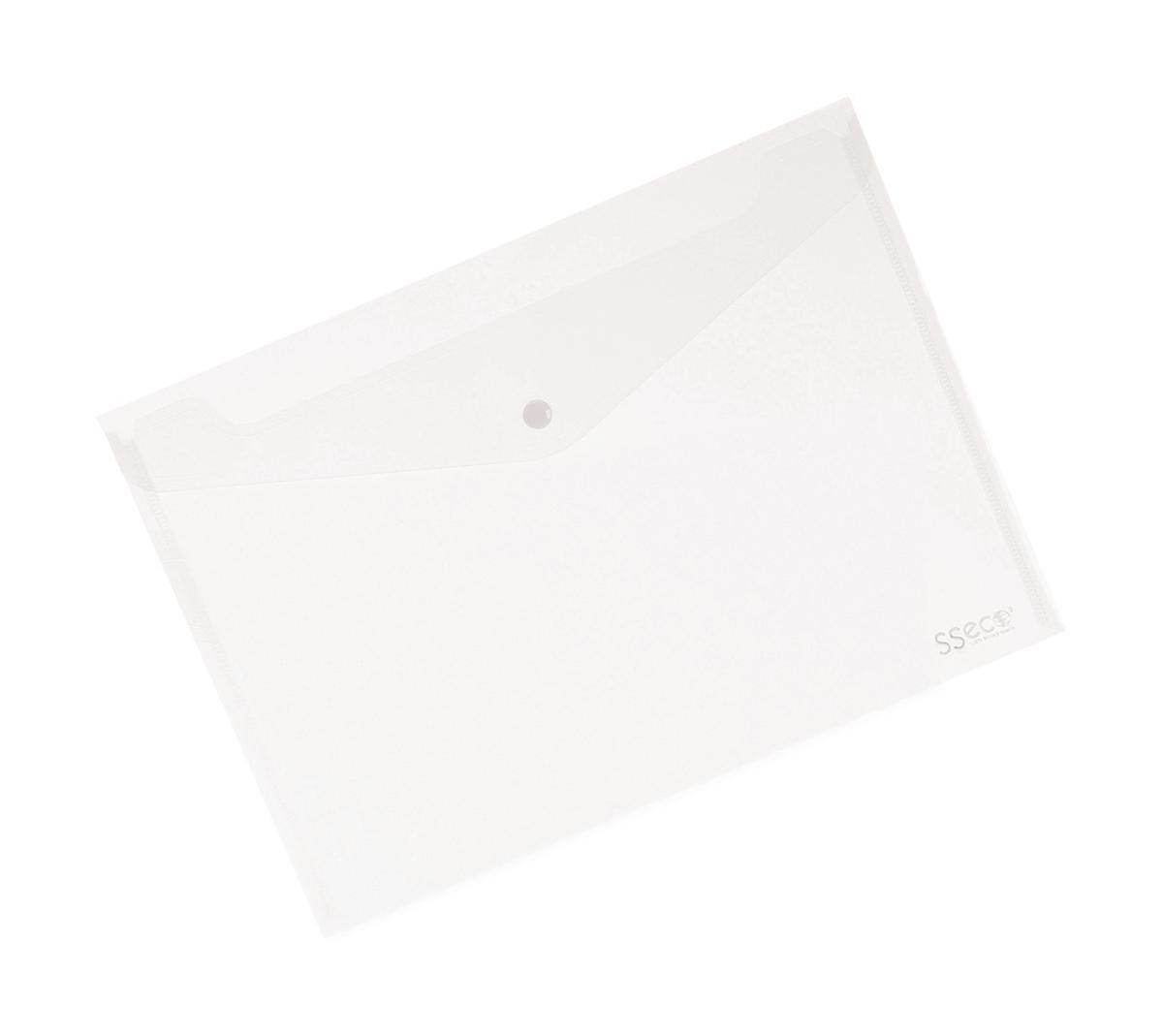 Image for SSeco Wallet Popper Seal Heavy-duty Polypropylene Oxo-biodegradable A4 Clear Ref 30085-CL [Pack 5]