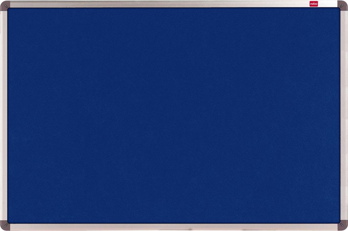Nobo Classic Noticeboard Felt with Fixings and Aluminium Frame W1800xH1200mm Blue Ref 1900982
