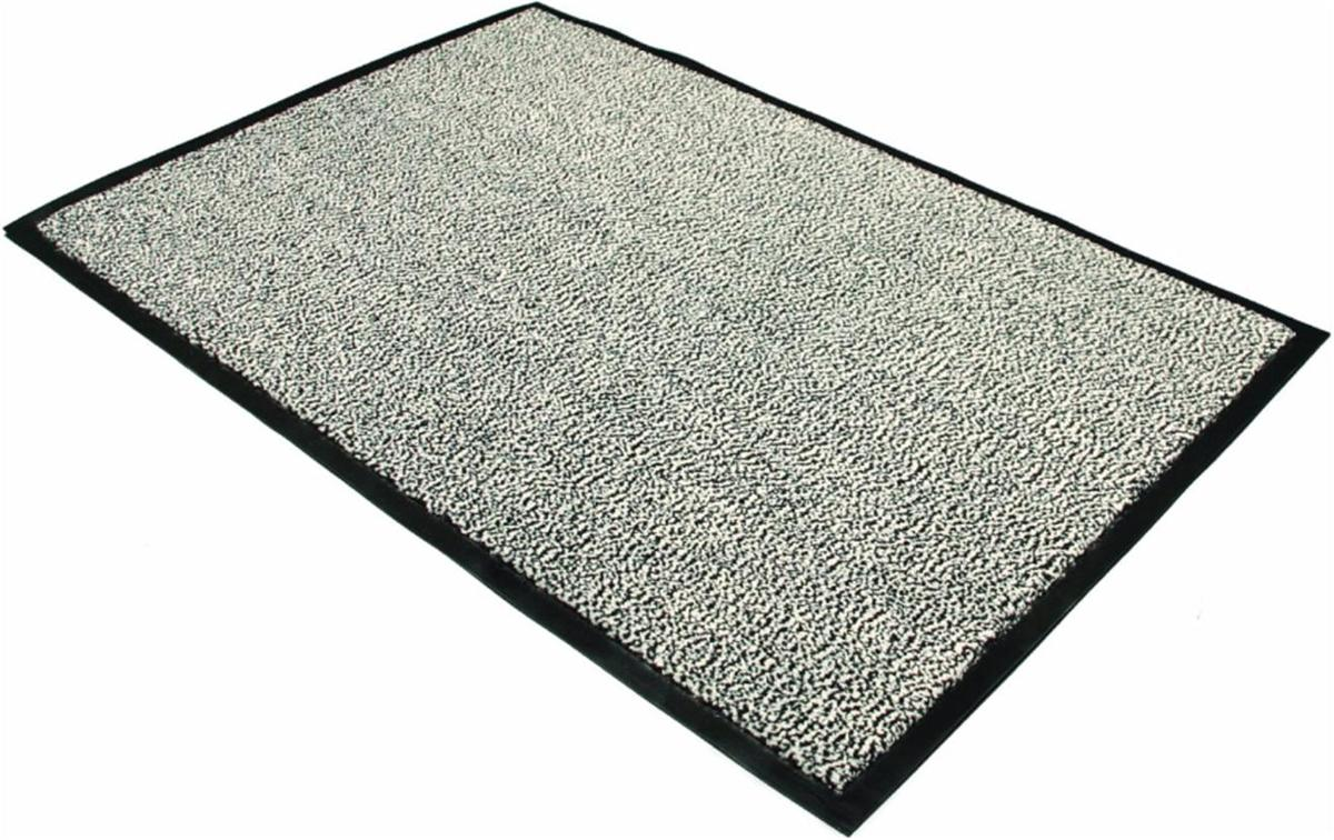 Image for Floortex Door Mat Dust and Moisture Control Polypropylene 600mmx900mm Black and White
