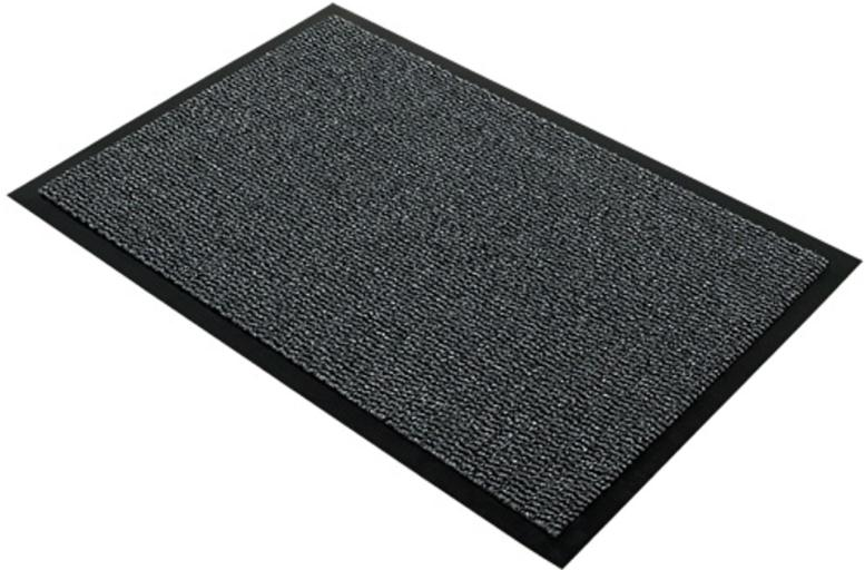 Image for Floortex Door Mat Dust and Moisture Control Polypropylene 900mmx1200mm Black and White