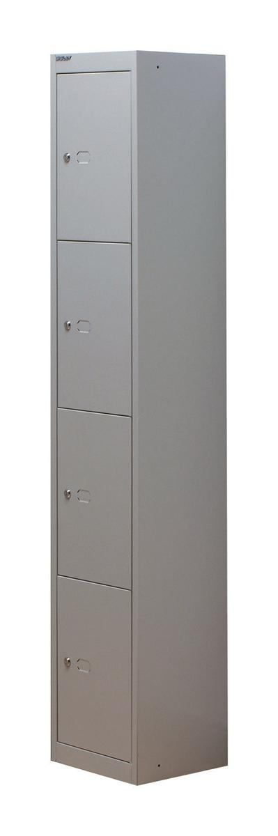 Image for Bisley Locker Steel 4-Door W305xD305xH1802mm Goose Grey Ref CLK124-73