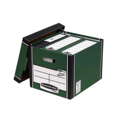 Image for Bankers Box by Fellowes Premium 726 Archive Storage Box Green and White Ref 7260802 [Pack 10]