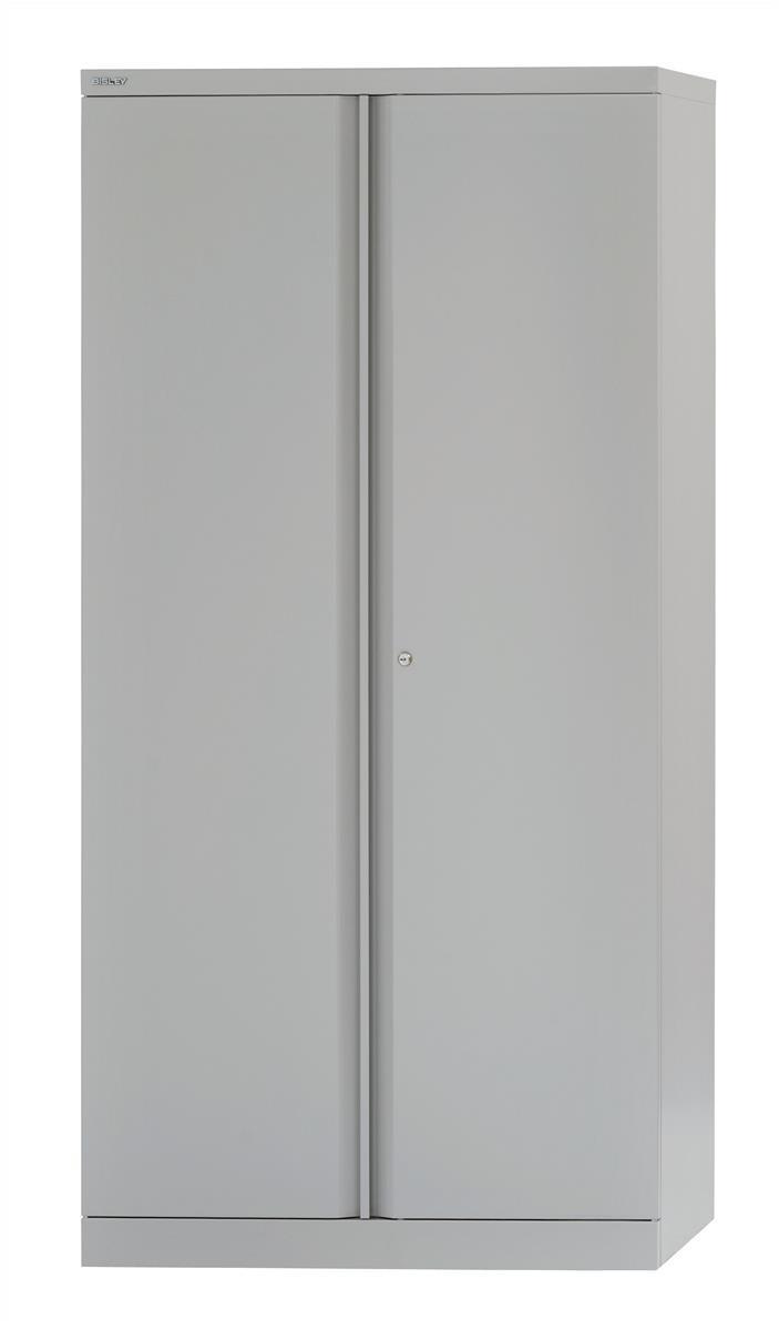 Image for Bisley Cupboard Steel High 2-door 3-Shelf W914xD470xH1970 - 1985mm Grey Ref 574506
