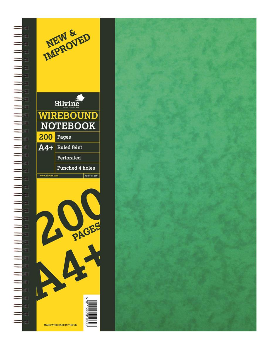 Silvine Notebook Twinwire Sidebound Hardcover Perforated Ruled 192 Pages 75gsm A4 Ref SPA4 [Pack 6]