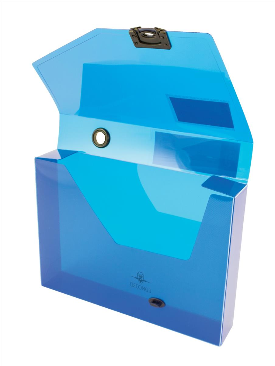 Image for Concord Document Box Polypropylene 60mm Spine A4 Blue Ref 7133-PFL