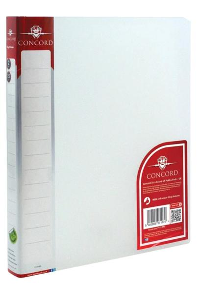 Image for Concord Natural Ring BInder Polypropylene 2 O-Ring 15mm Size A4 Clear Ref 7117-PFL [Pack 10]