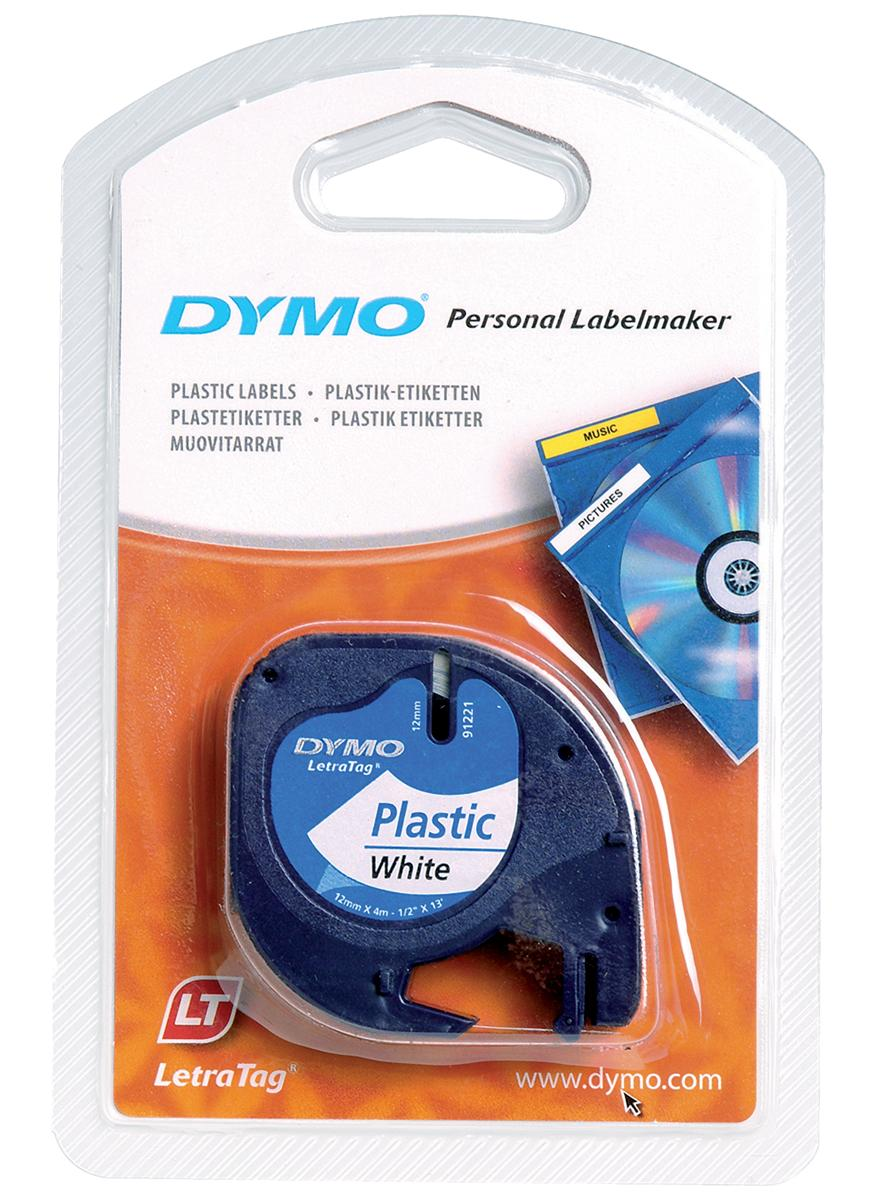 Image for Dymo LetraTag Tape Plastic 12mmx4m Pearl White Ref 91201 S0721610