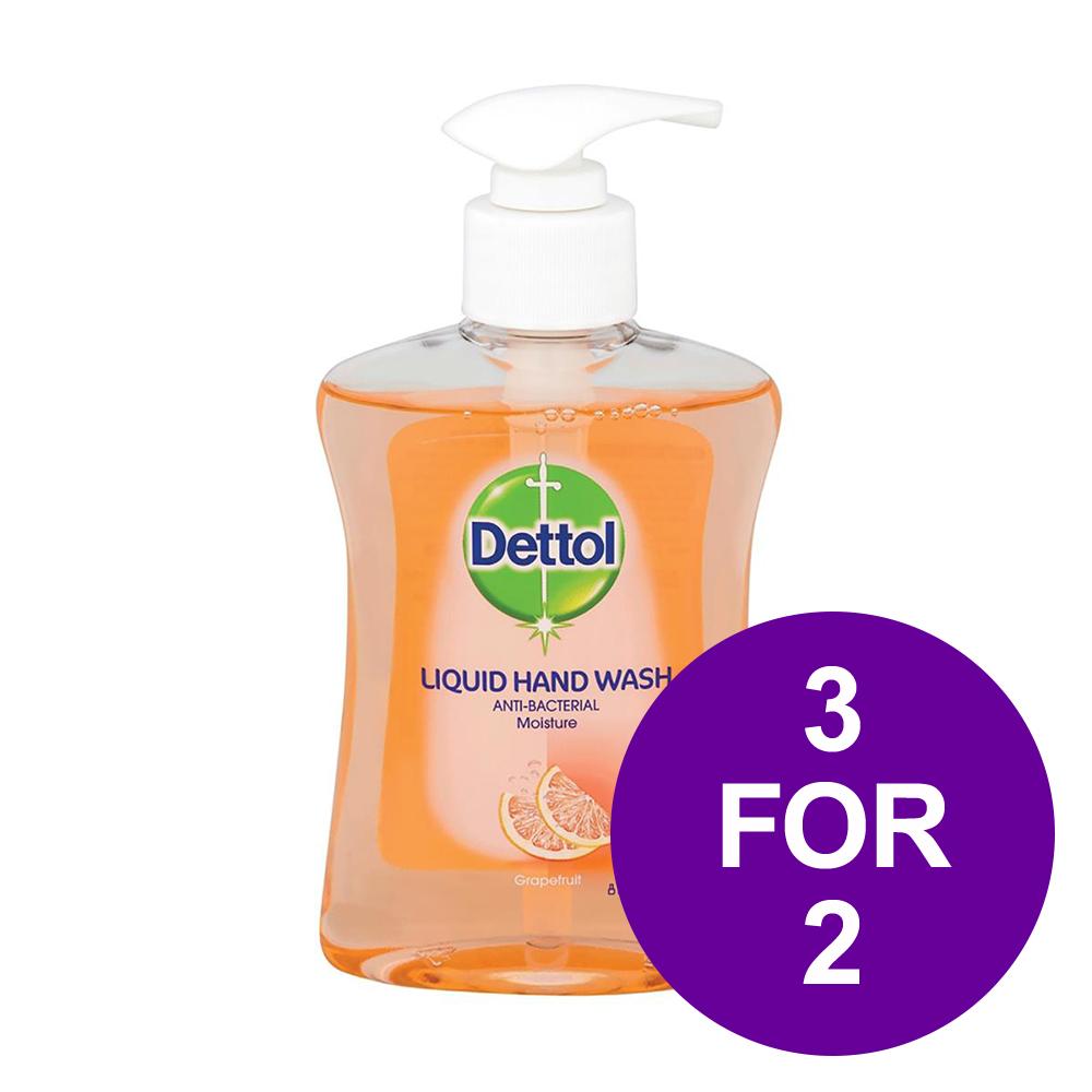 Dettol Handsoap Antibacterial Moistening Grapefruit 250ml Ref 8071864 [3 For 2] May-Jun 2019
