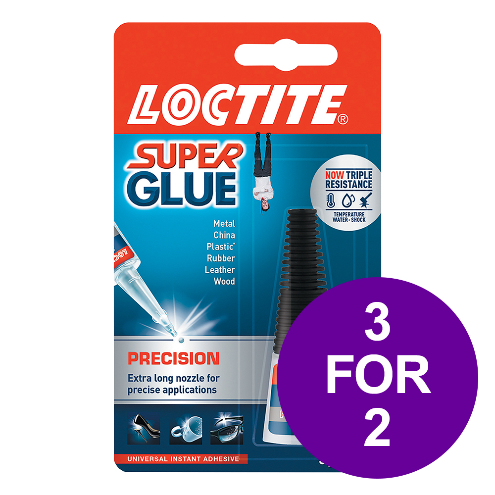 Loctite Super Glue Precision Bottle with Extra-long Nozzle 5g Ref 80001611 3 For 2 Apr-Jun 2019