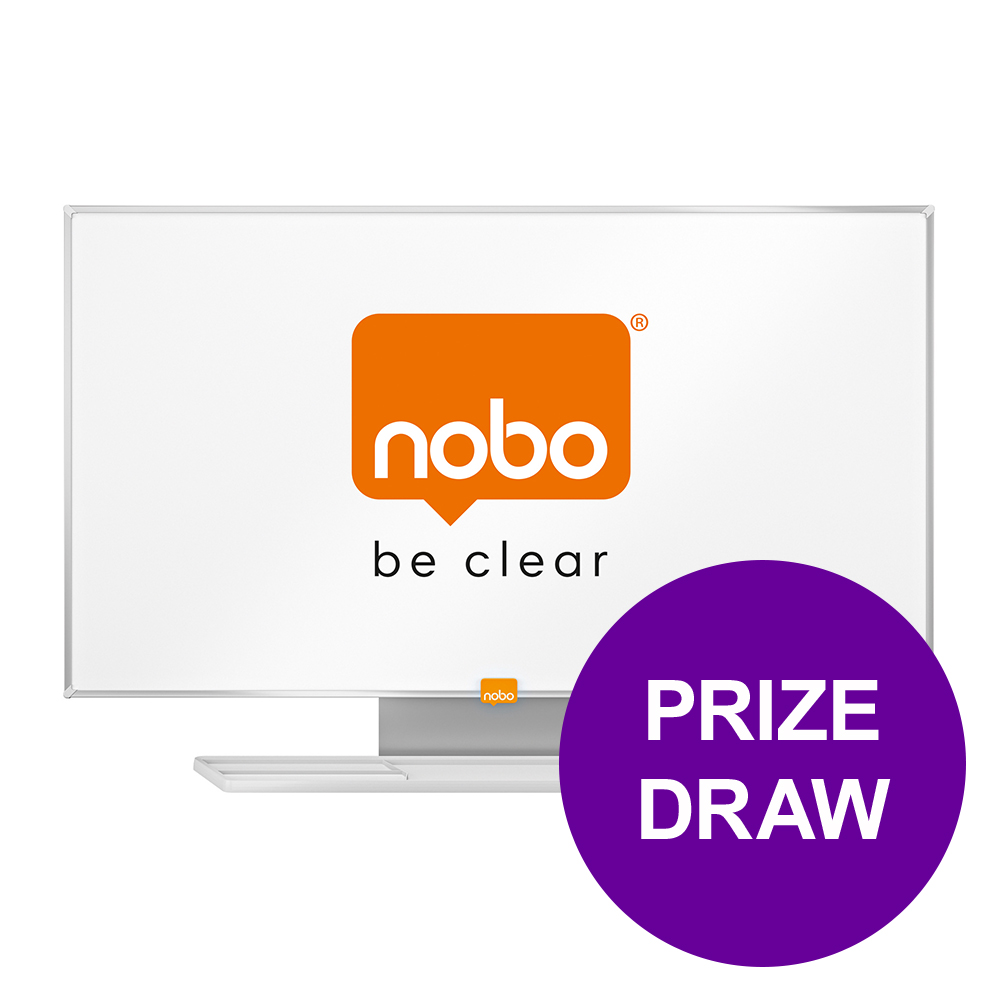 Nobo Whiteboard Widescreen 40in Nano Clean Magnetic W898xH510 Ref 1905297 COMPETITION Apr-Jun 19