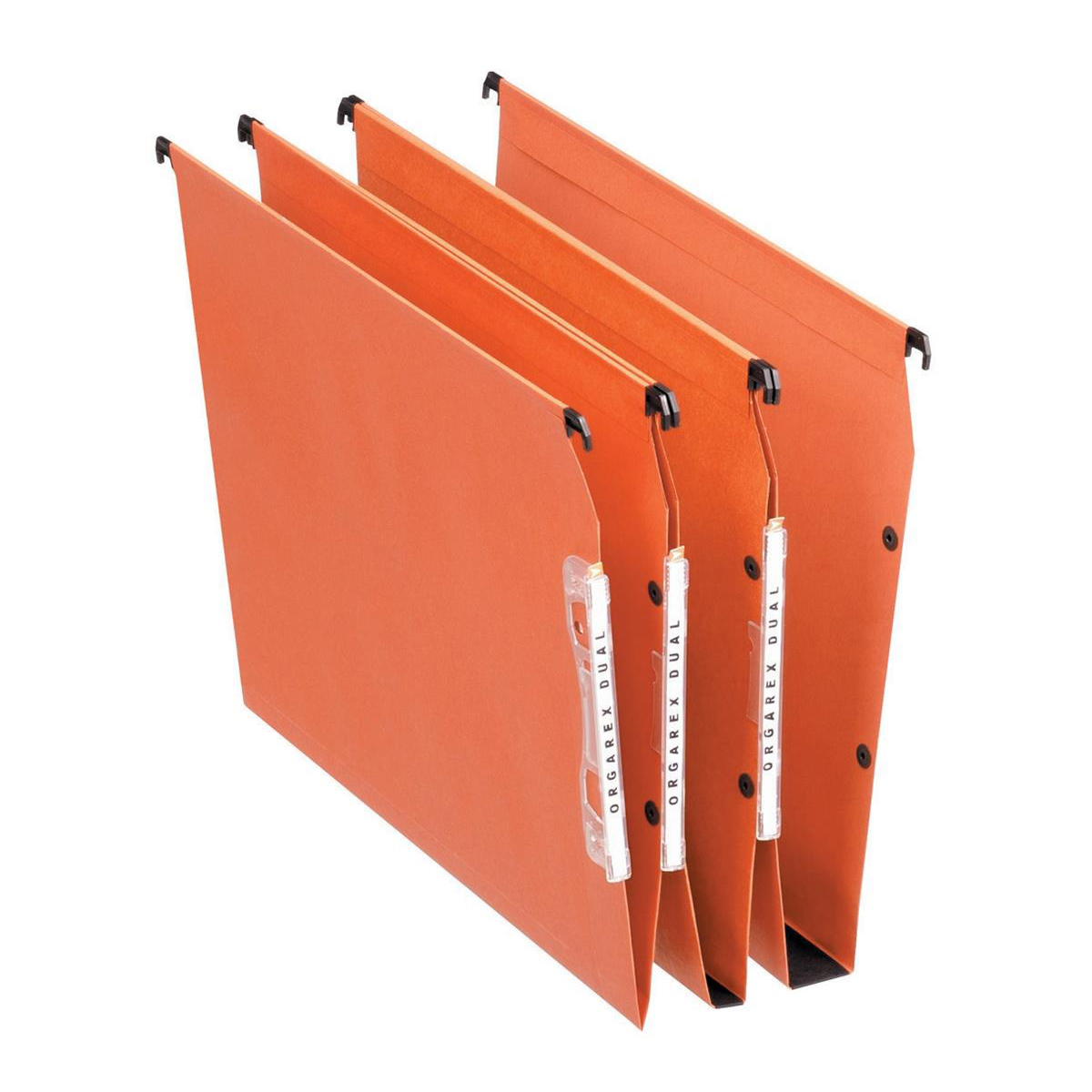 Esselte Orgarex Dual Linking Lateral File Manilla 50mm Wide-base 240gsm A4 Ref 21630 Pack 25