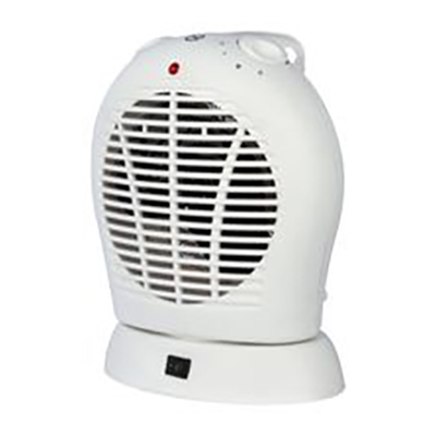 Convection heaters 2kW Upright Oscillating Fan Heater with Thermostat 2 Heat Settings 1kW 2kW White Ref HG01168