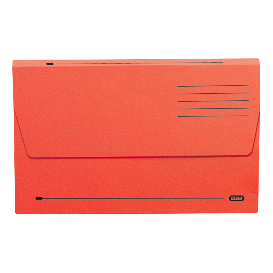 Elba Document Wallet Half Flap 285gsm Capacity 32mm Foolscap Red Ref 100090243 [Pack 50]