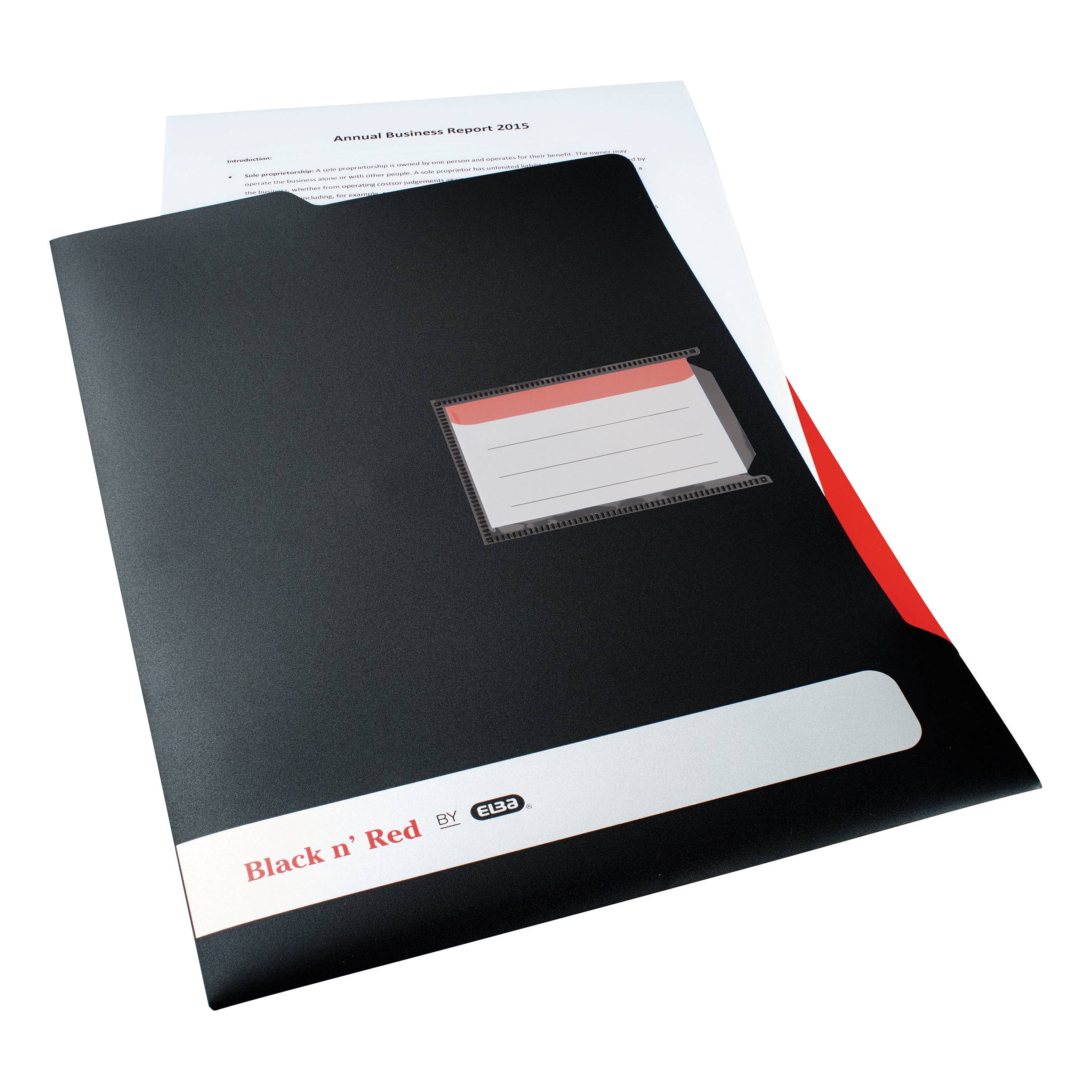 Black n Red by Elba L Folder Polypropylene A4 Ref 400051533 [Pack 5]