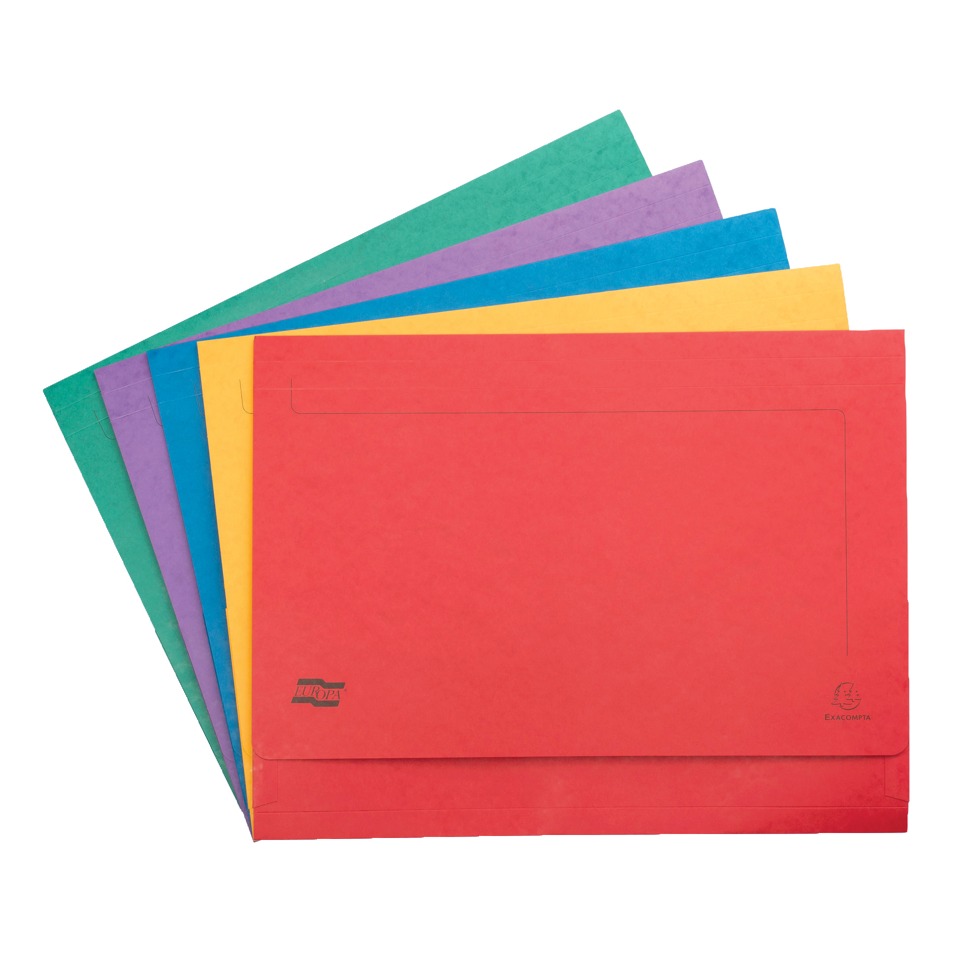 Europa Document Wallet Half Flap 265gsm Pressboard Capacity 32mm A3 Assorted Ref 4780 Pack 25