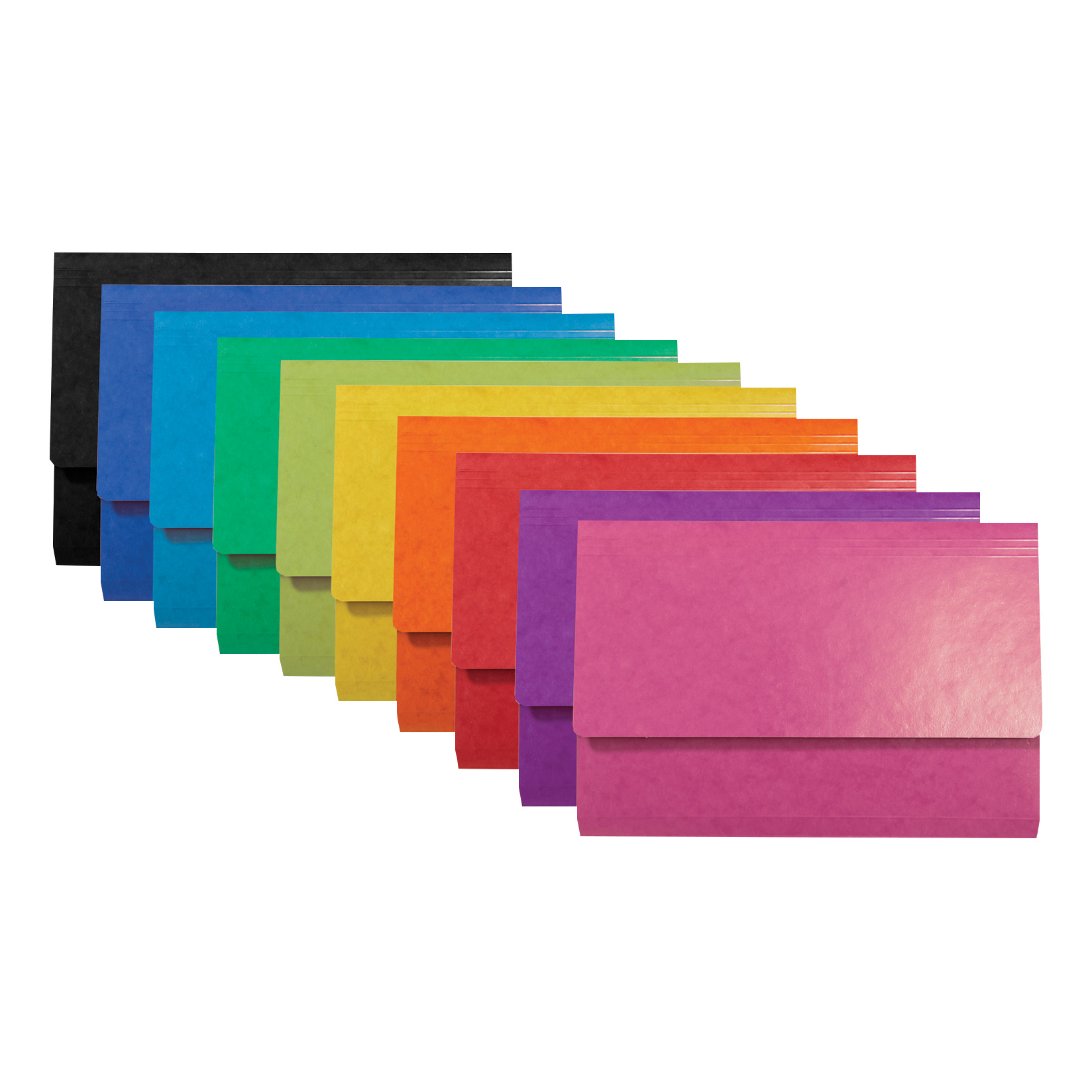 Iderama Document Wallets Assorted Foolscap Ref 6500Z [Pack 25]