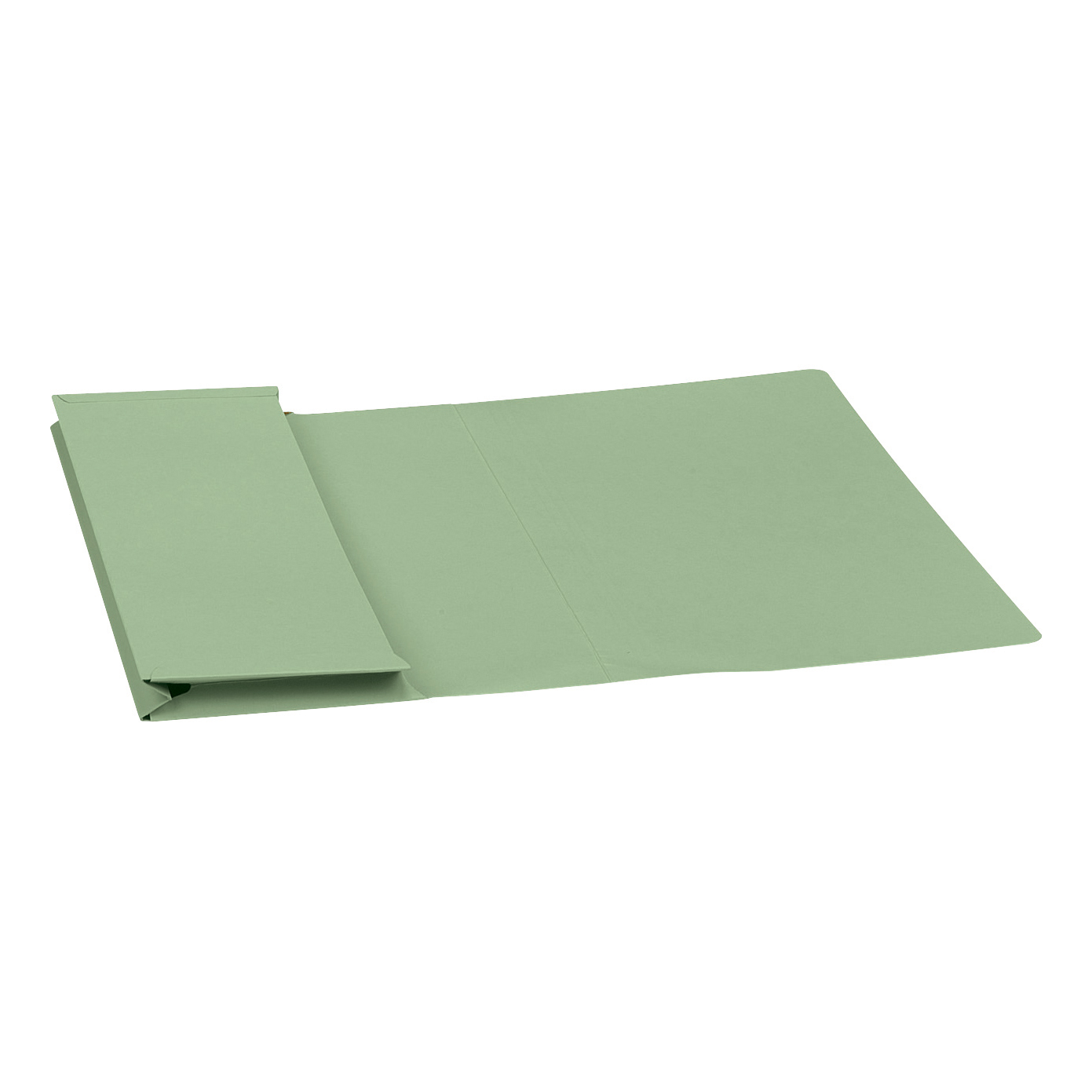 5 Star Elite Document Wallet Full Flap 315gsm Capacity 35mm Foolscap Green Pack 50