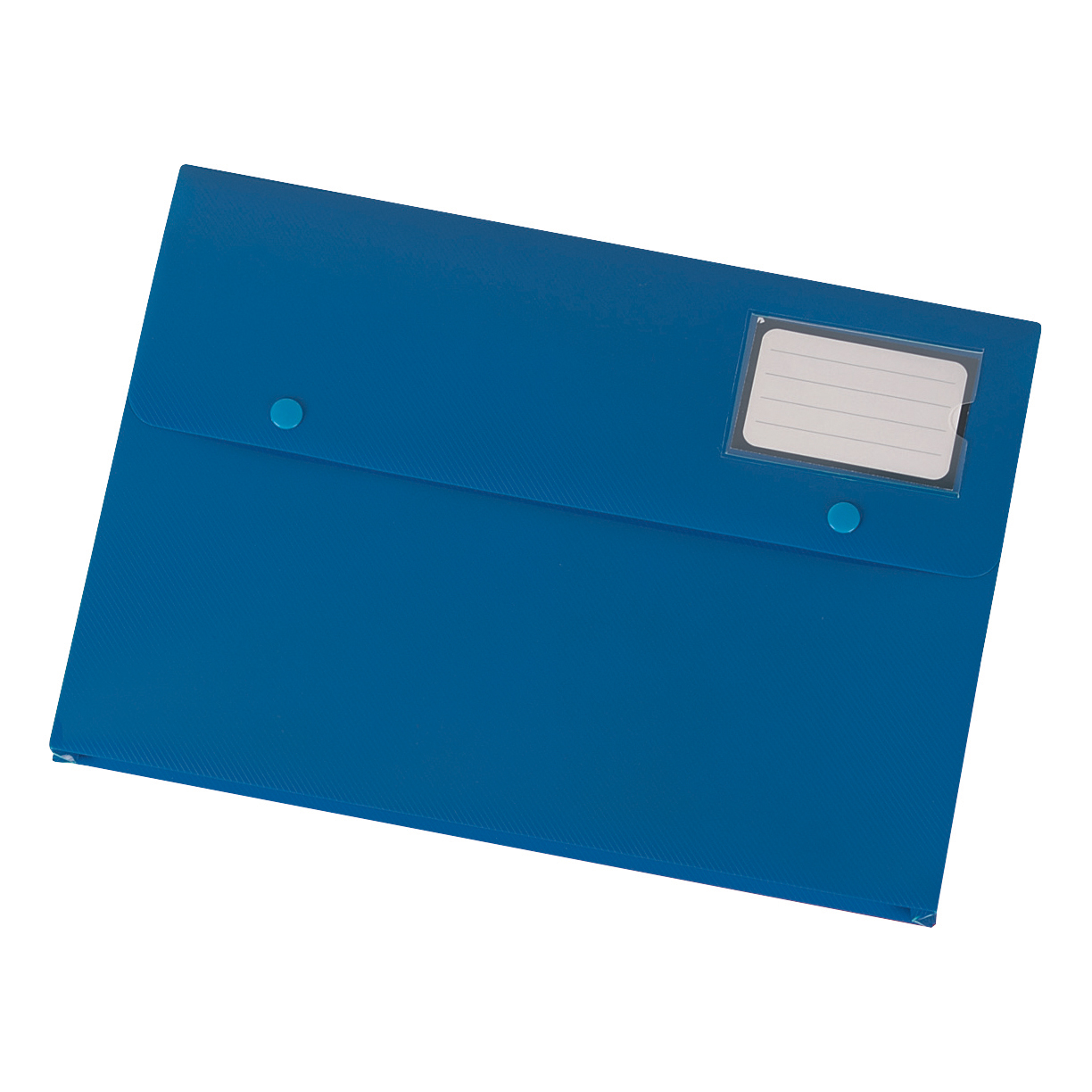 Popper Wallets 5 Star Office Document Wallet with Card Holder Polypropylene A4 Blue Pack 3