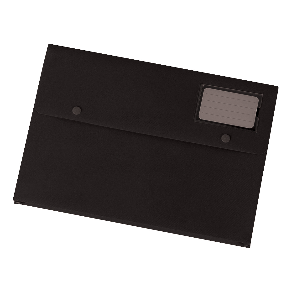 Popper Wallets 5 Star Office Document Wallet with Card Holder Polypropylene A4 Black Pack 3