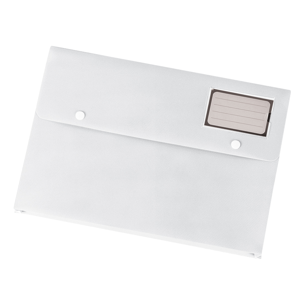 Popper Wallets 5 Star Office Document Wallet with Card Holder Polypropylene A4 White Pack 3
