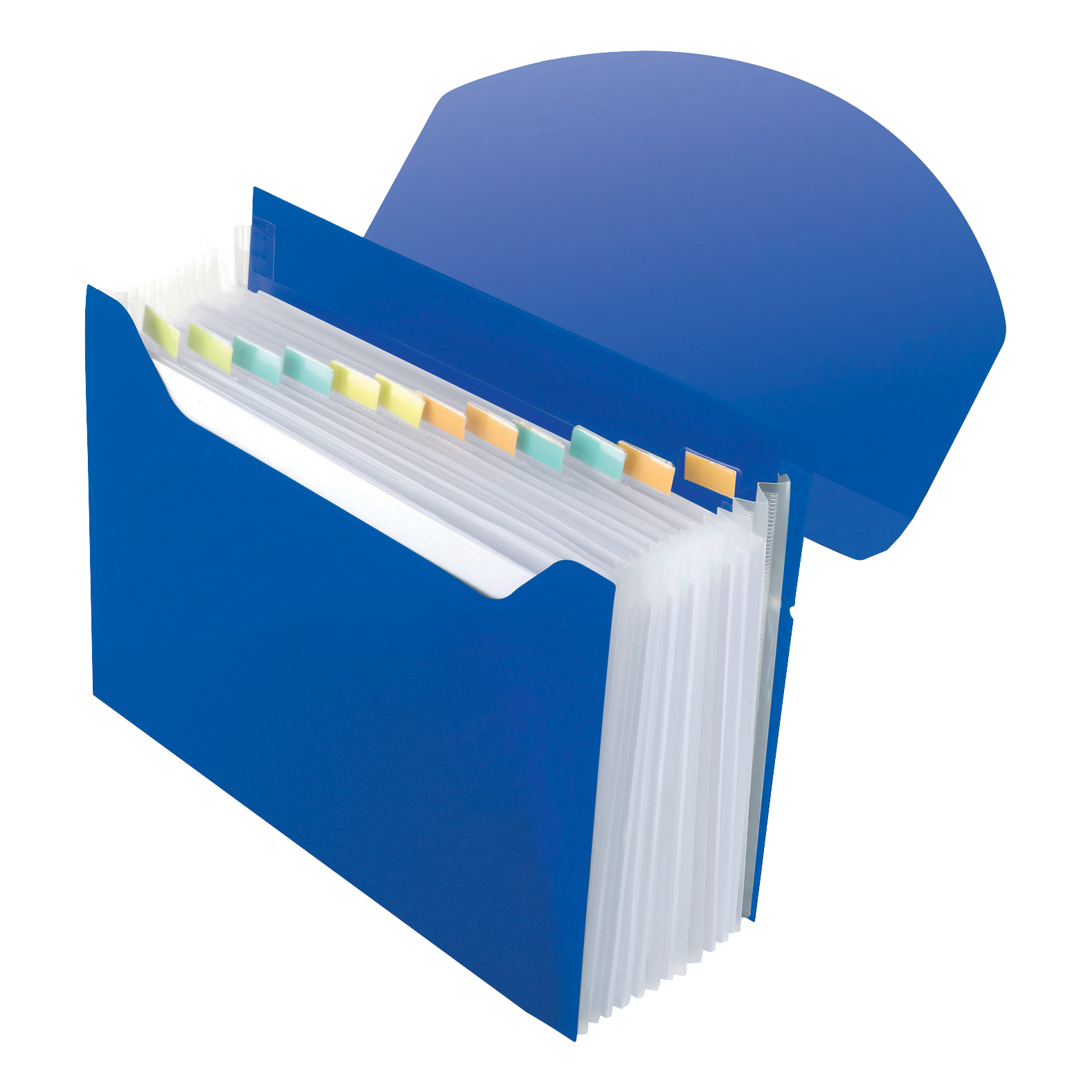 Rexel Optima Expanding Organiser File Polypropylene 13-Part A4 Blue Ref 2102484