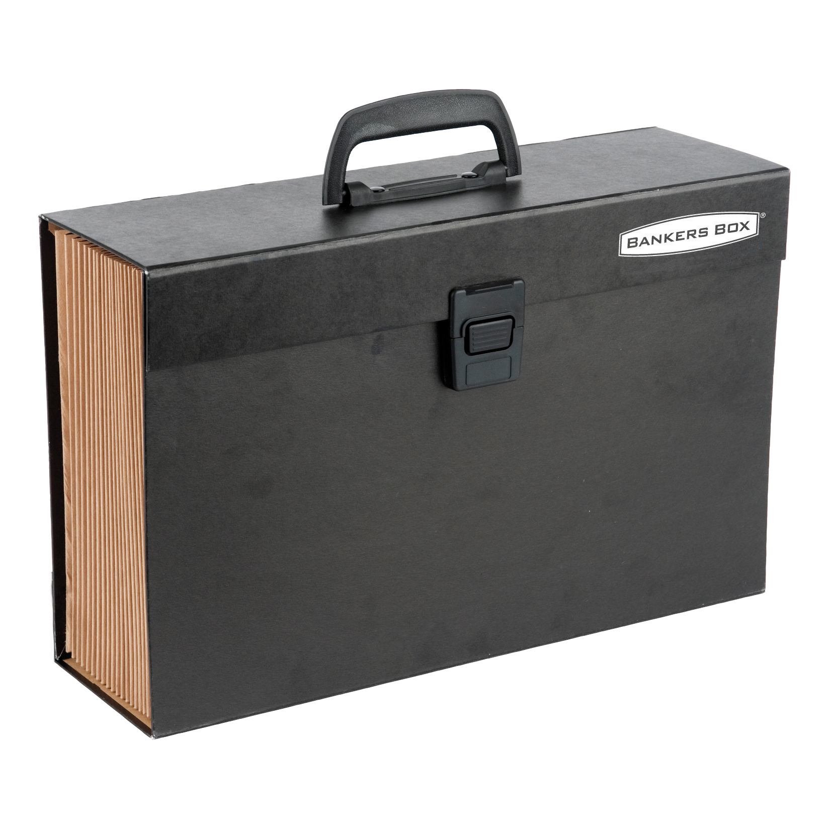Expanding Files Bankers Box by Fellowes Handifile Expanding Organiser Briefcase Black Ref 9351501