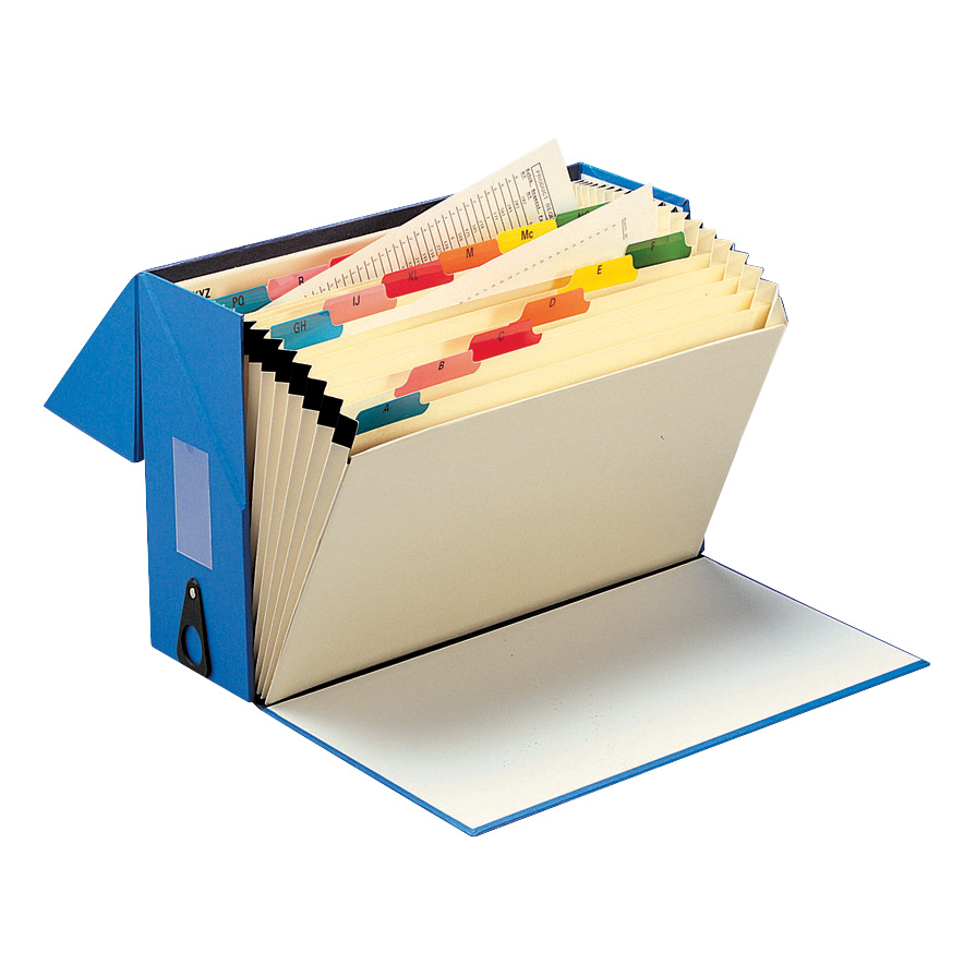 Expanding Files 5 Star Office Expanding Box File 19 Pockets A-Z Foolscap Blue