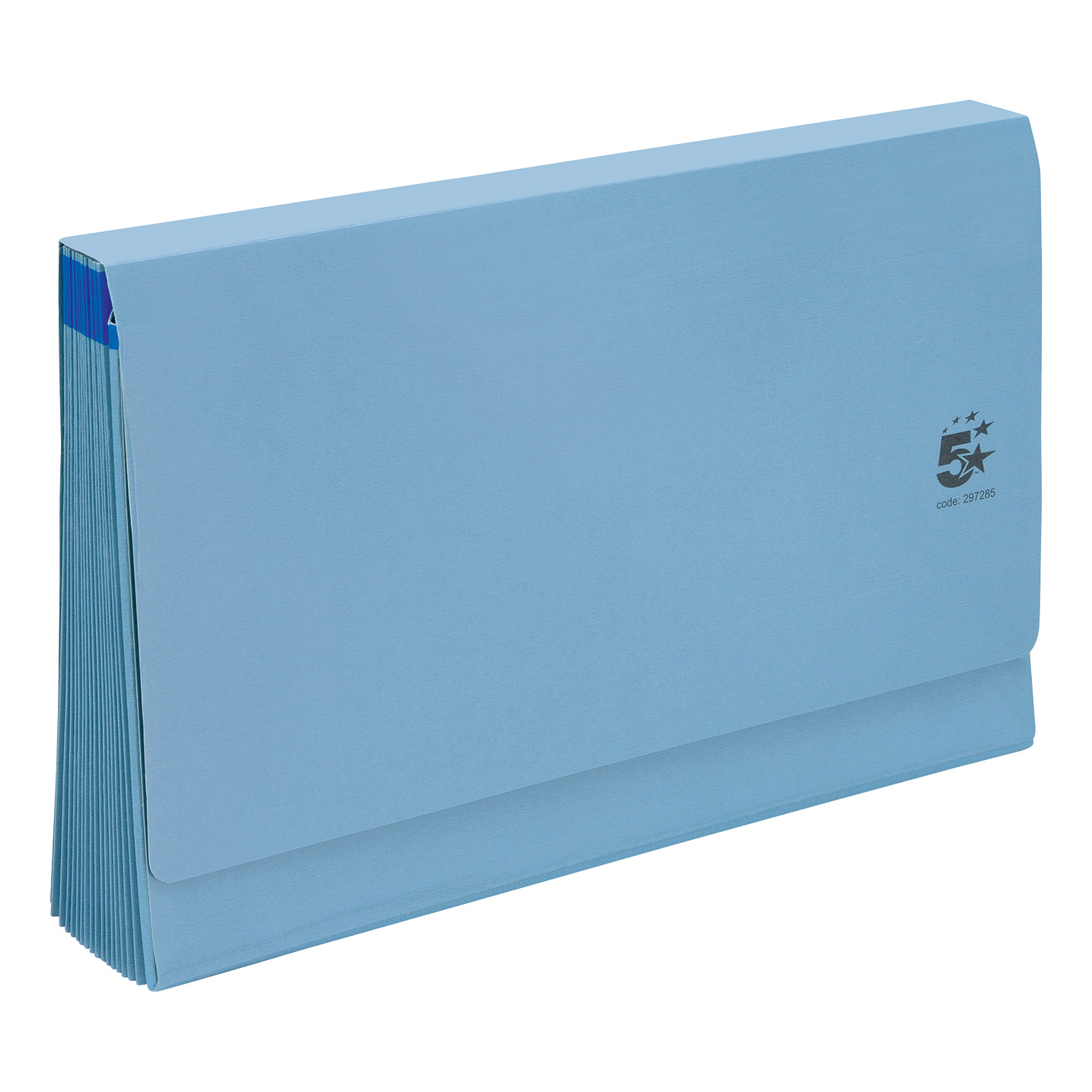 Expanding Files 5 Star Office De Luxe Expanding File 16 Pockets 1-31 A-Z Jan-Dec Cardboard Cover Foolscap Blue