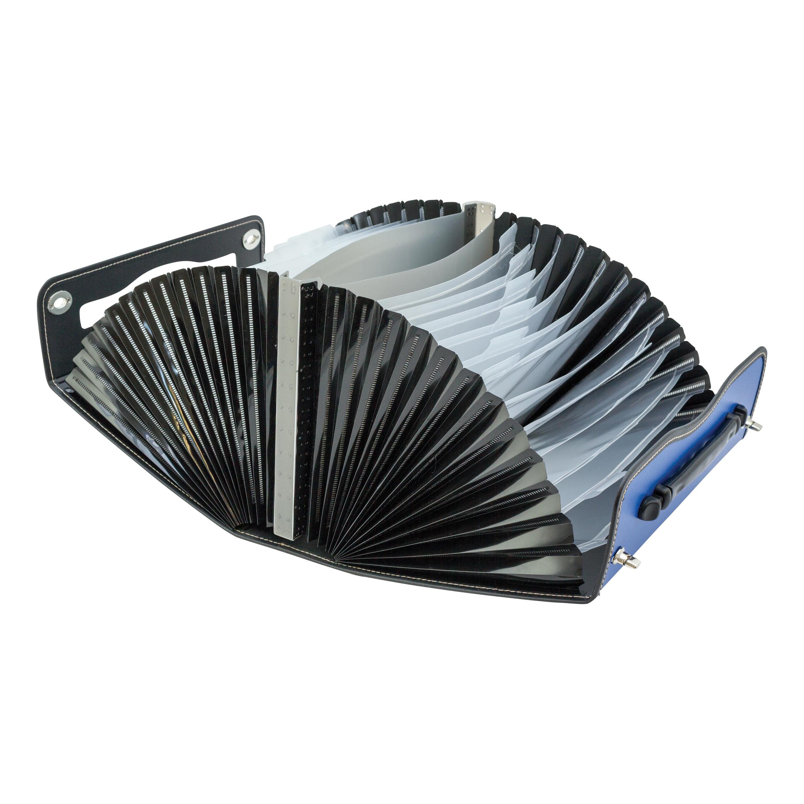 Concord Filing Case Polypropylene 26 Part Metal Twist-lock Foolscap Blue Ref 7107-PFL