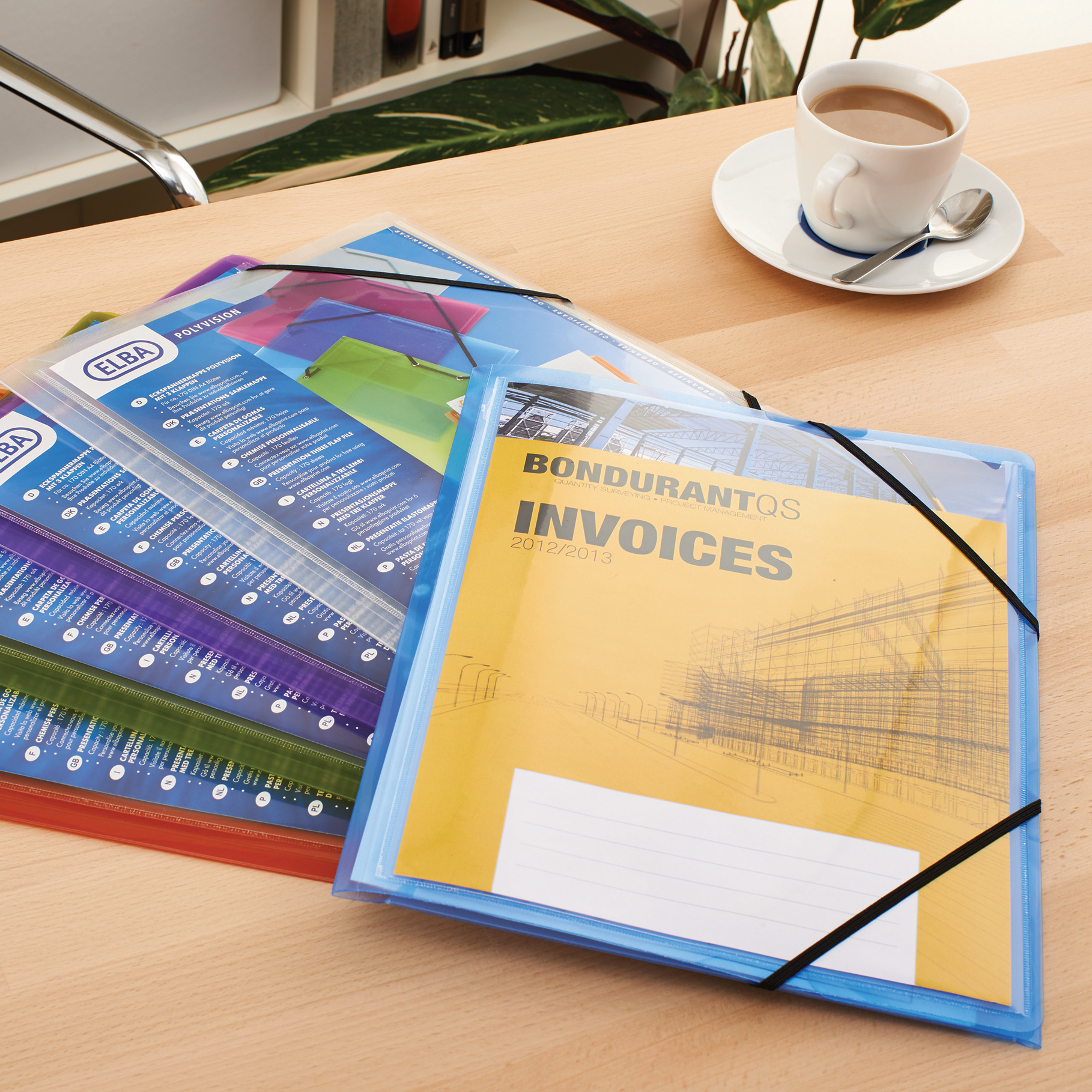 Elba Polyvision Elasticated Folder 3-Flap Polypropylene A4 Clear Ref 100201153 Pack 12