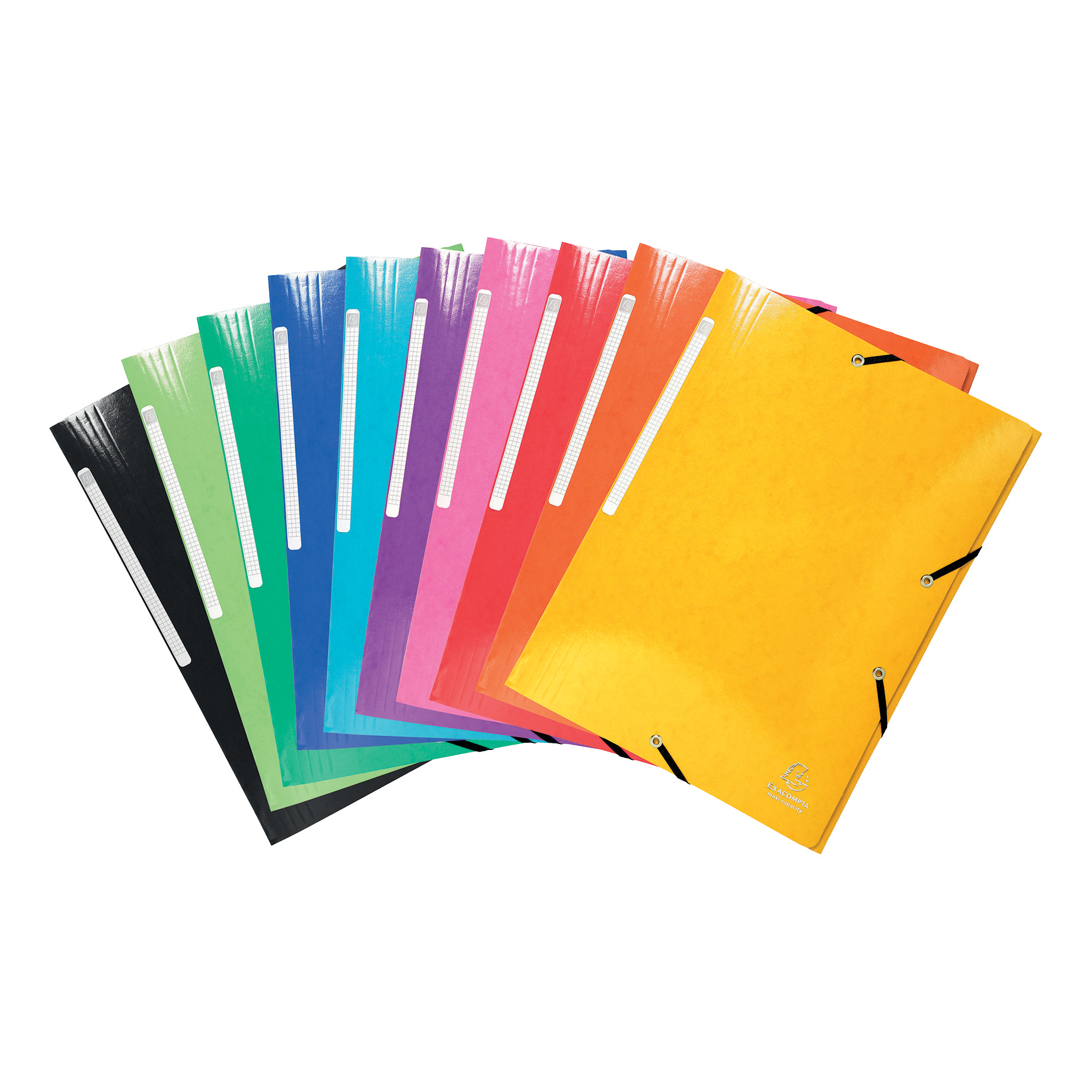 Iderama 3 Flap Folders Elasticated Premium Pressboard 35mm Assorted Ref 55829E [Pack 25]