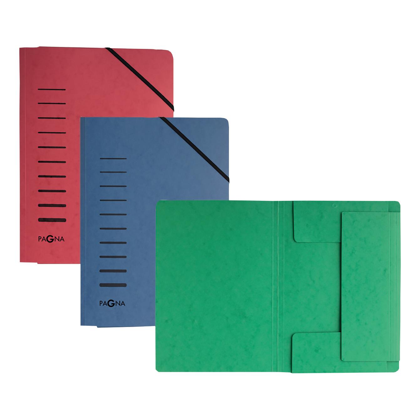 Pagna Classic Folder Elastic Corner Straps Pressboard A4 Green Ref 2400703 Pack 25