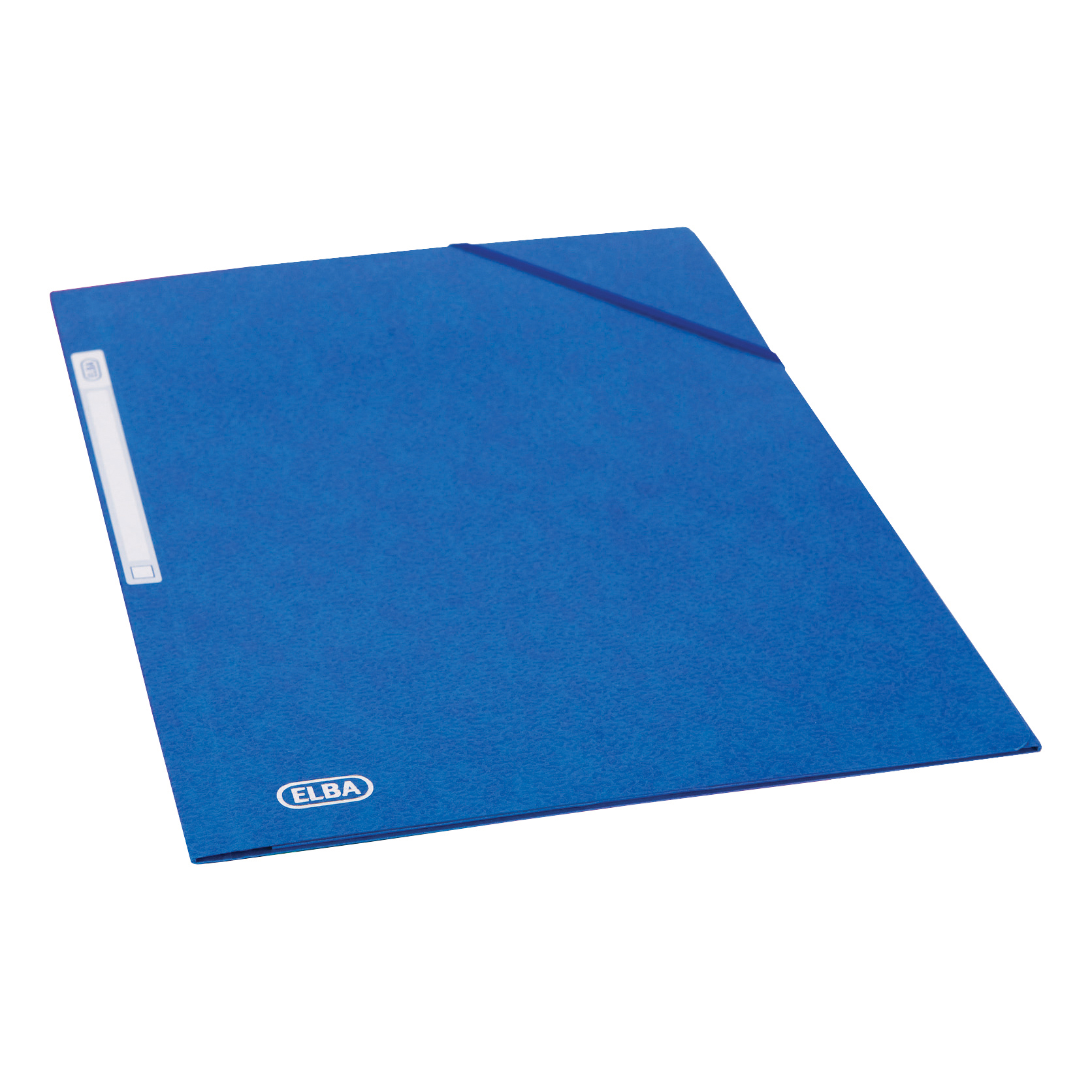 Elba Eurofolio Folder Elasticated 3-Flap 450gsm A4 Blue Ref 100200978 Pack 10