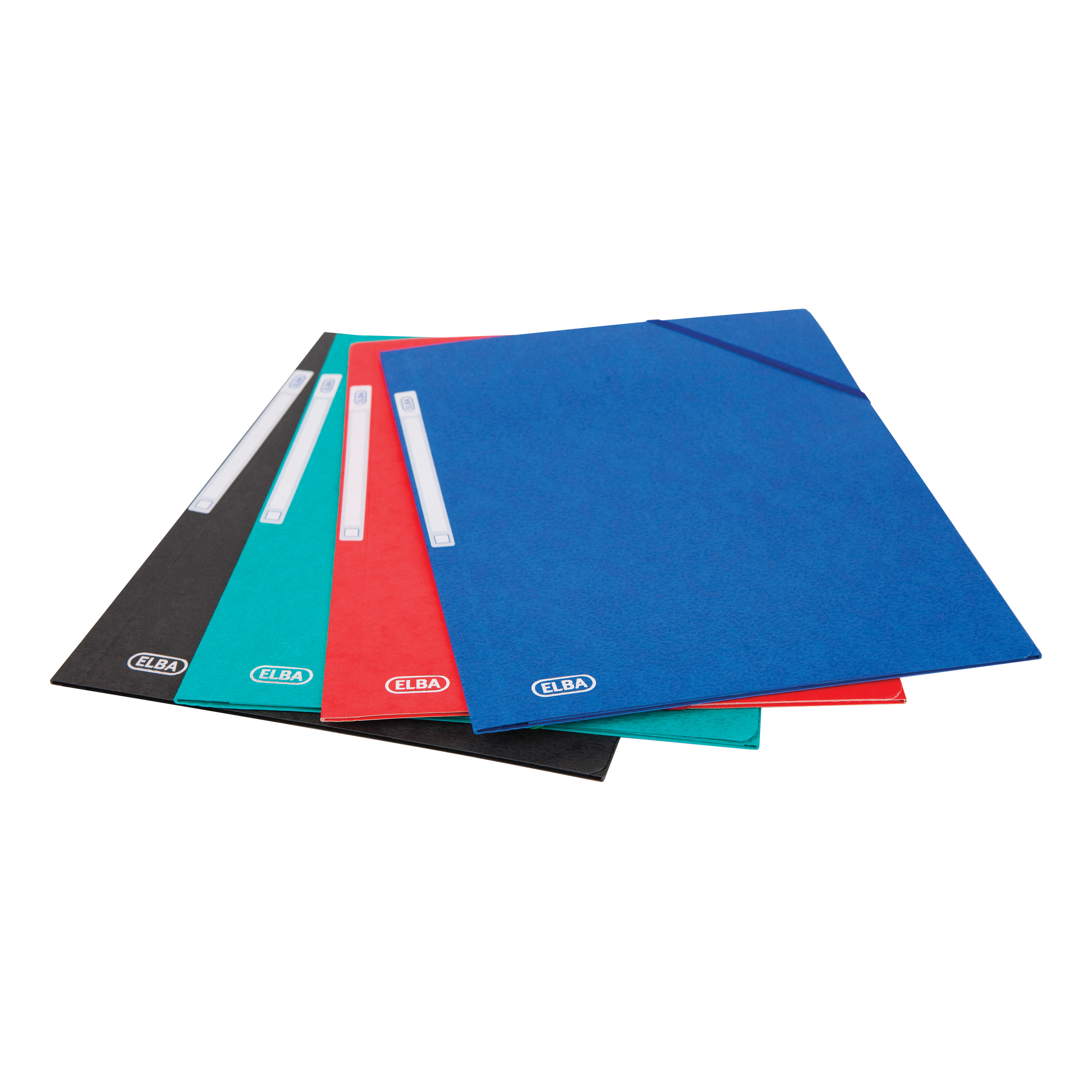 Oxford Folder Elasticated 3-Flap 450gsm A4 Assorted Ref 400114319 Pack 10