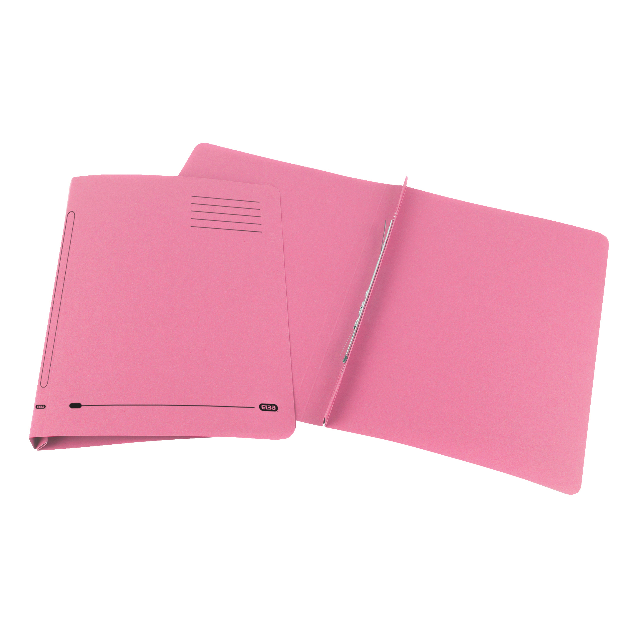 Elba Ashley Flat Bar File (no pocket) 285gsm Capacity 35mm Foolscap Pink Ref 100090155 Pack 25