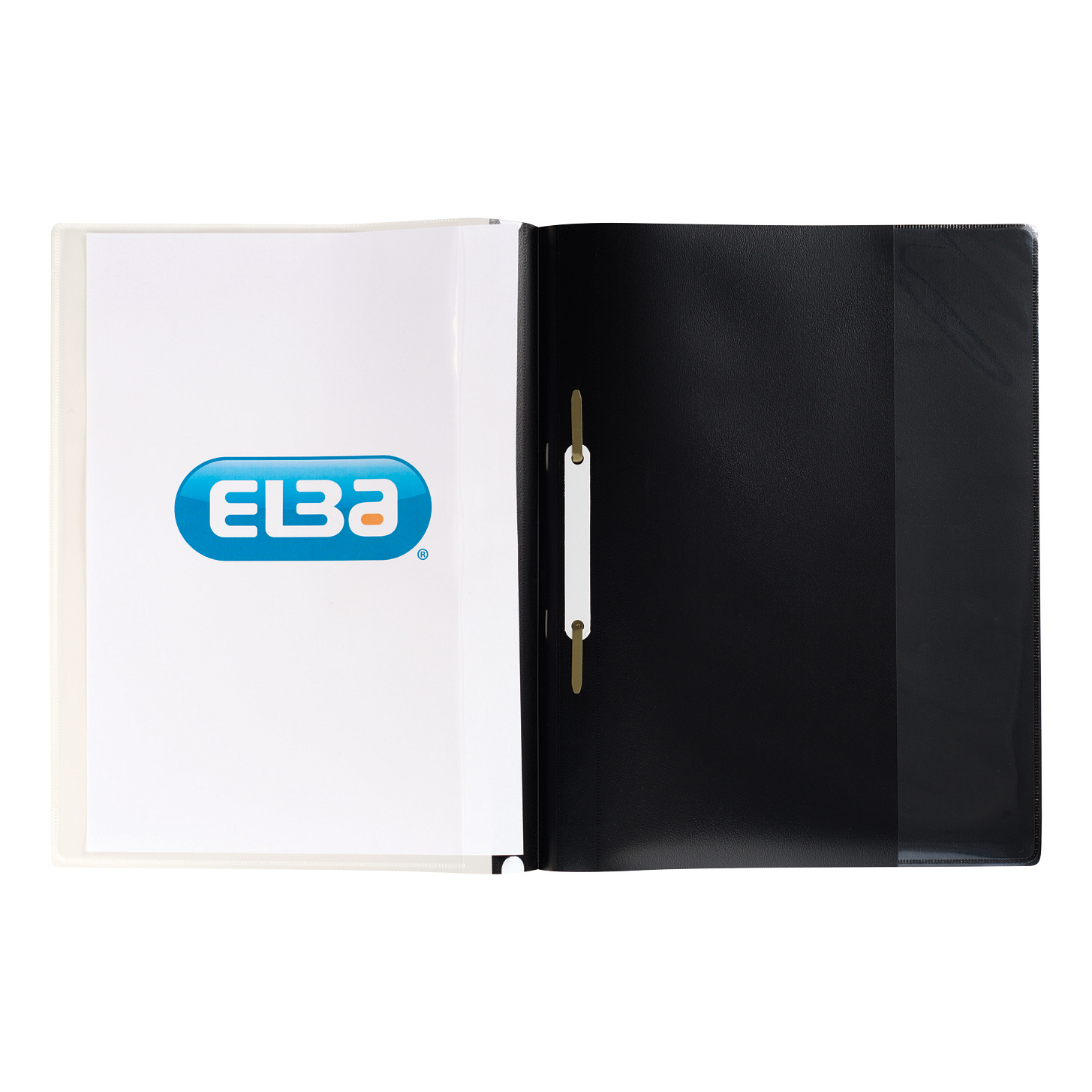 Elba A4+ Report File Capacity 160 Sheets Clear Front A4 Black Ref 400055036 Pack 25