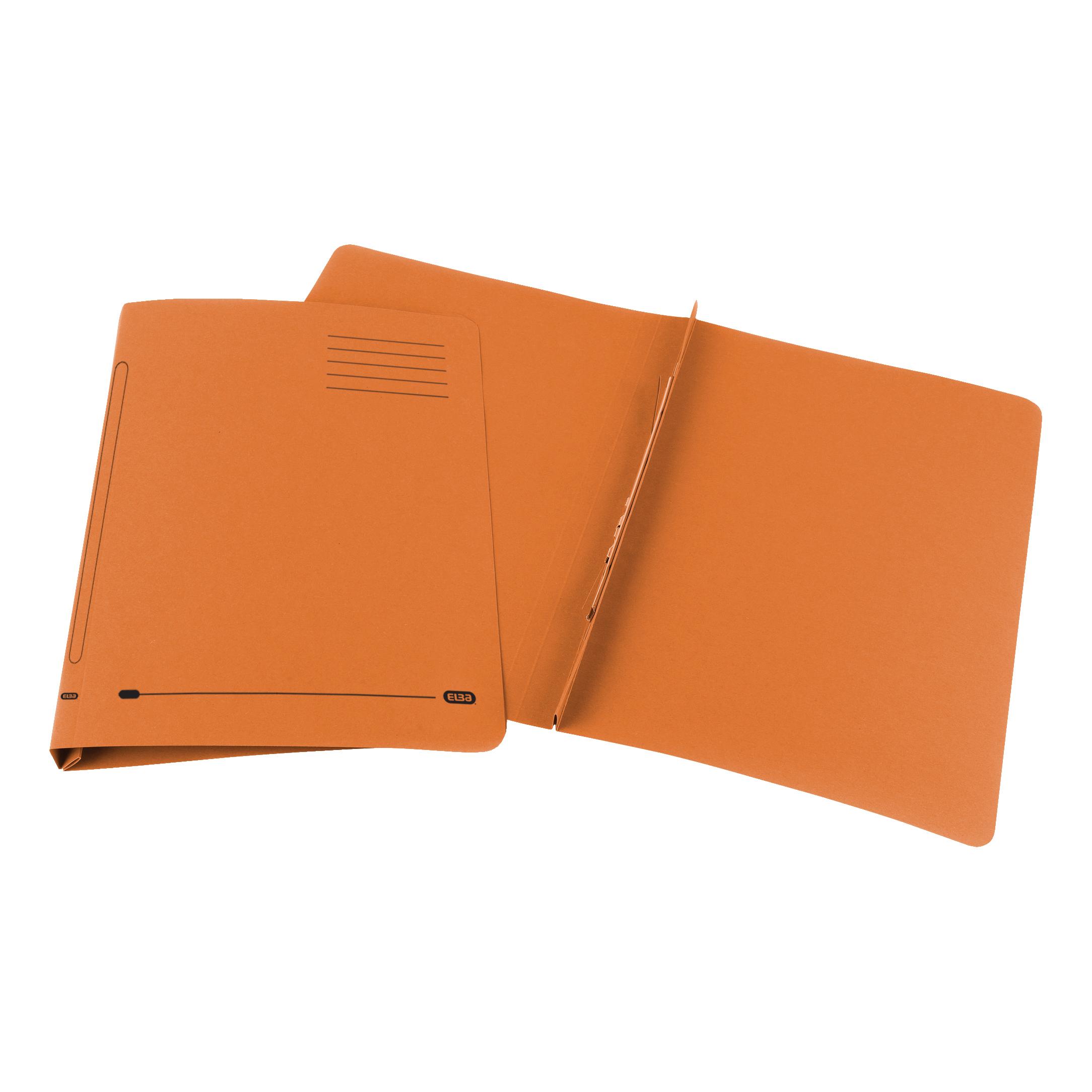 Elba Ashley Flat Bar File (no pocket) 285gsm Capacity 35mm Foolscap Orange Ref 100090283 Pack 25