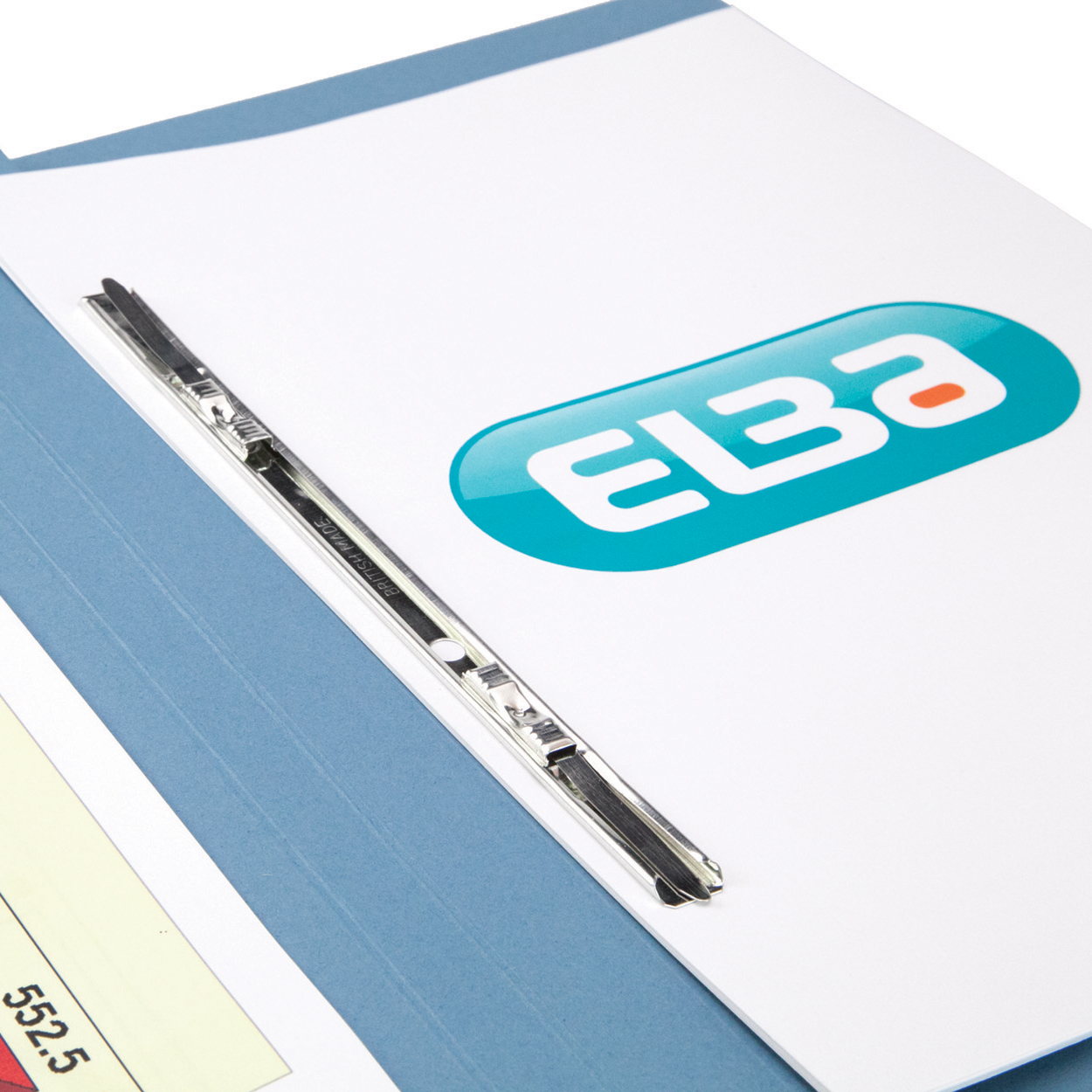 Elba Clifton Flat Bar Pocket (Rear) File 285gsm Capacity 50mm Foolscap Blue Ref 100090178 [Pack 25]