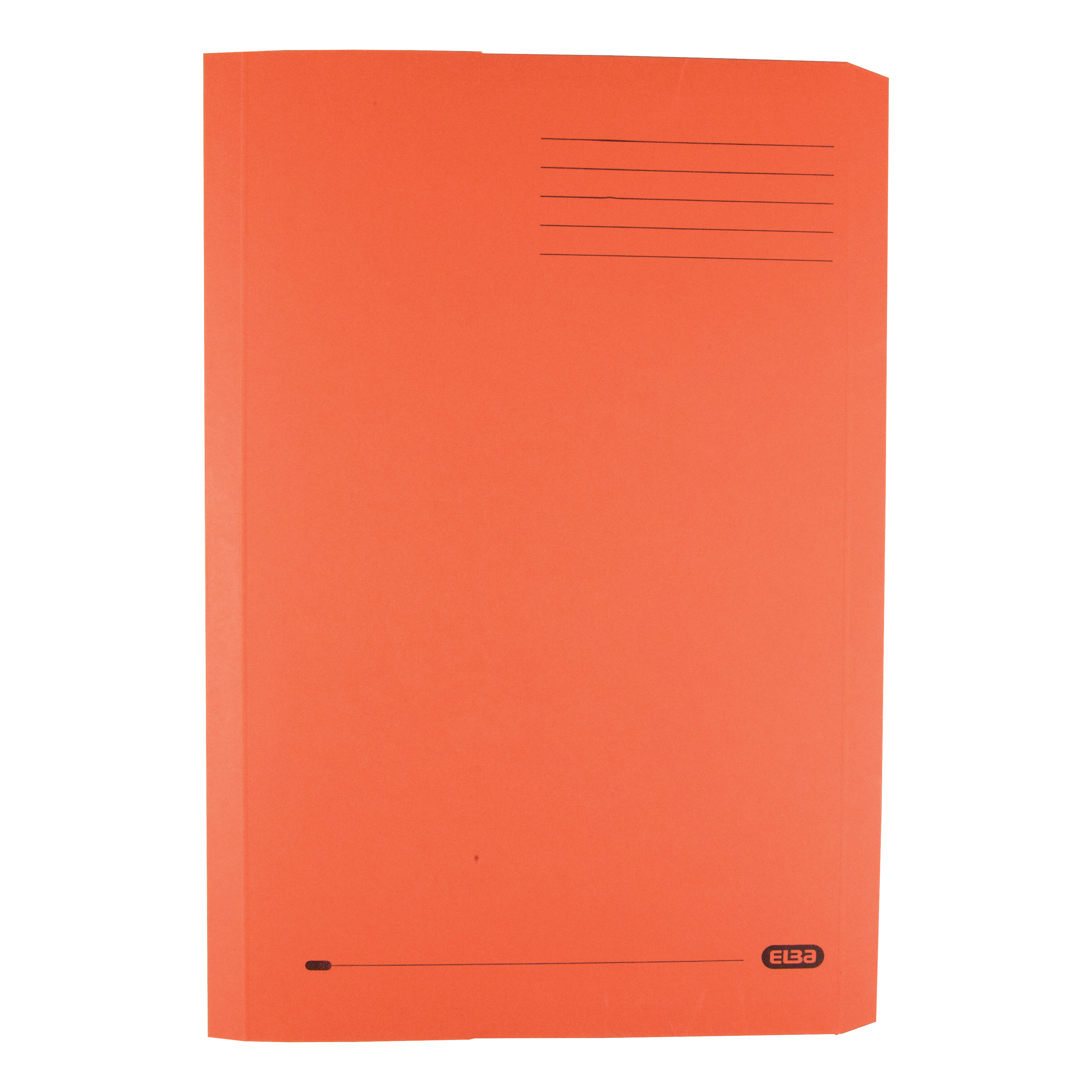 Elba Clifton Flat Bar Pocket (Rear) File 285gsm Capacity 50mm Foolscap Orange Ref 100090321 [Pack 25]