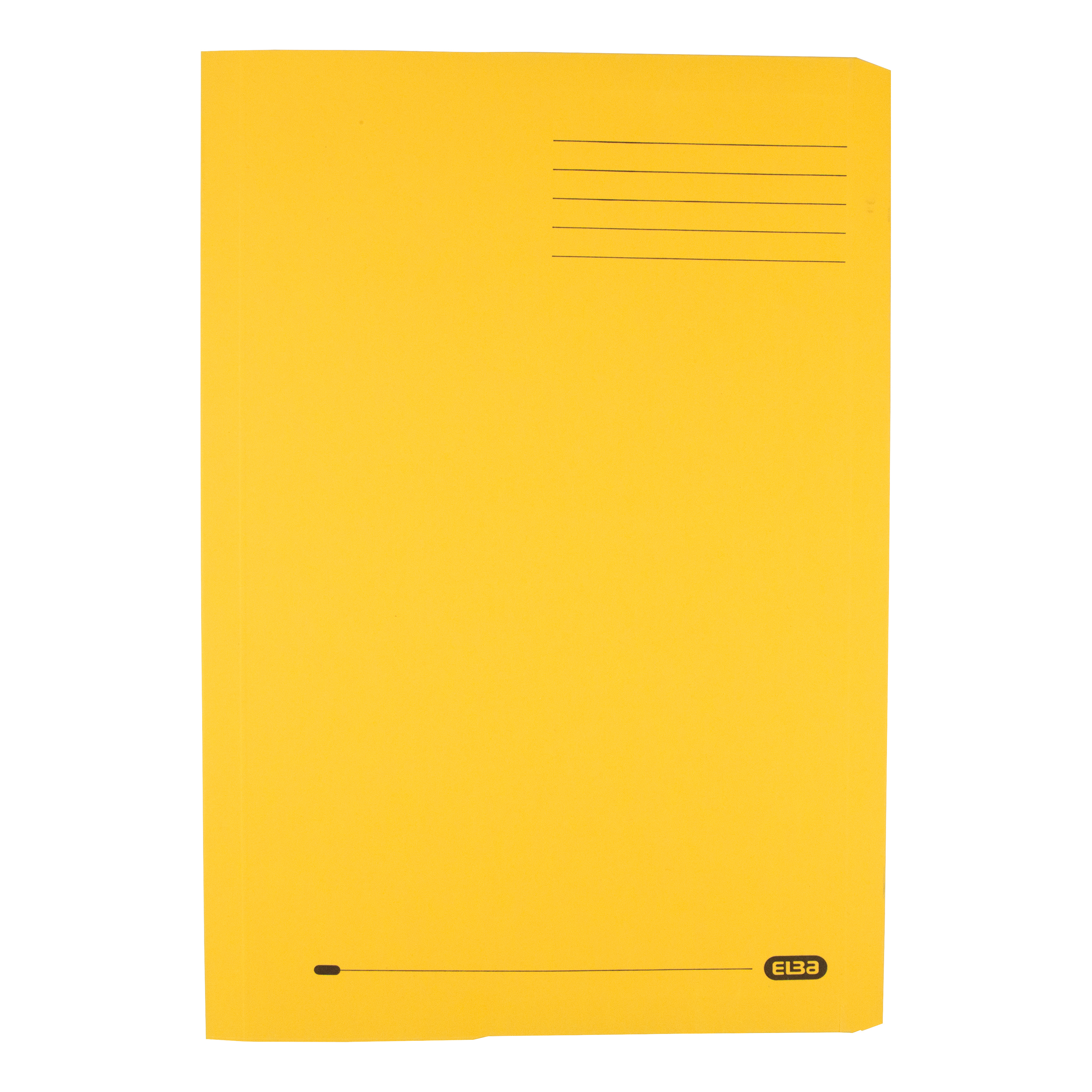 Elba Clifton Flat Bar Pocket (Rear) File 285gsm Capacity 50mm Foolscap Yellow Ref 100090180 Pack 25