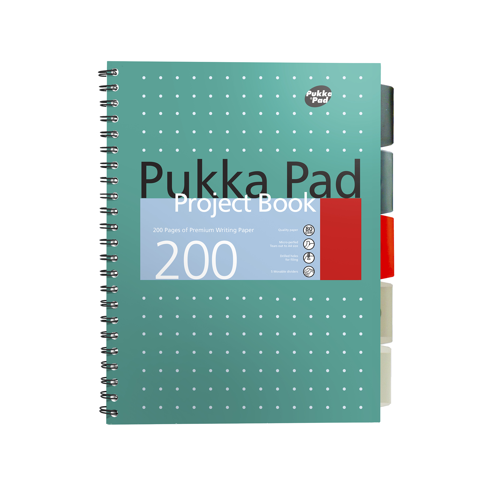 Pukka Metallic Project Book A4 80gsm Green Ref 8521-MET [Pack 3]
