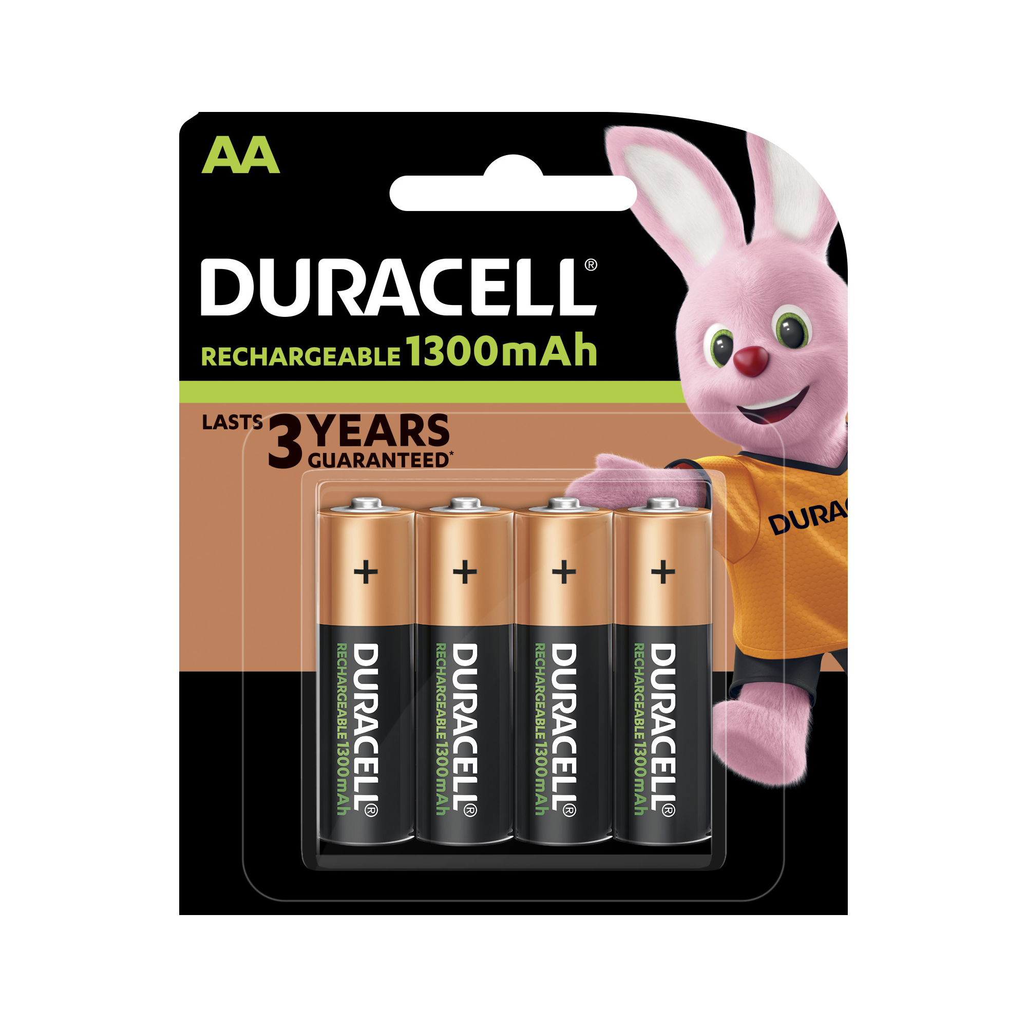 Duracell Battery Rechargeable Accu NiMH 1300mAh AA Ref 81367177 Pack 4