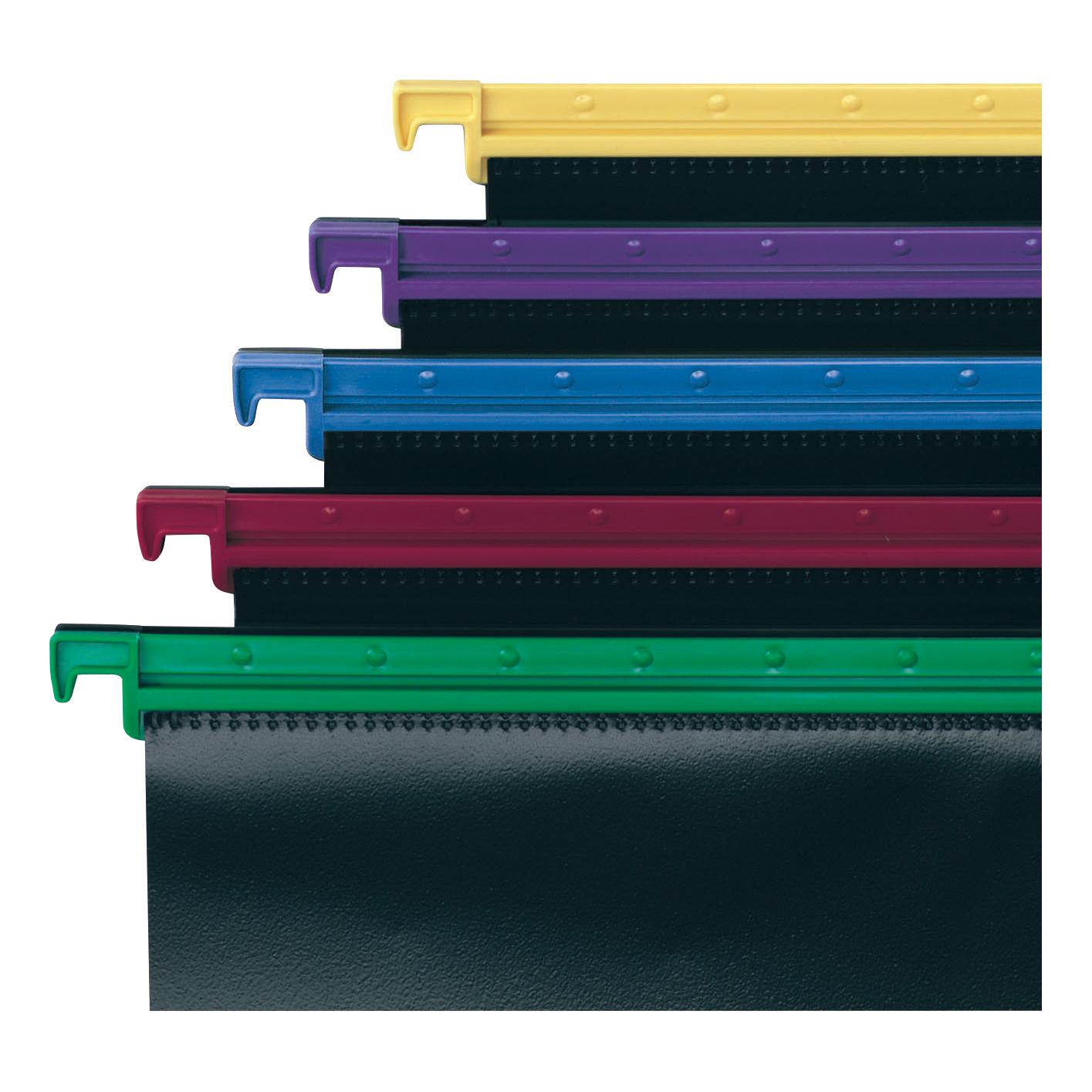 Snopake HangGlider Suspension Files Polypropylene 15mm V-base A4 Assorted Ref 10296 Pack 25