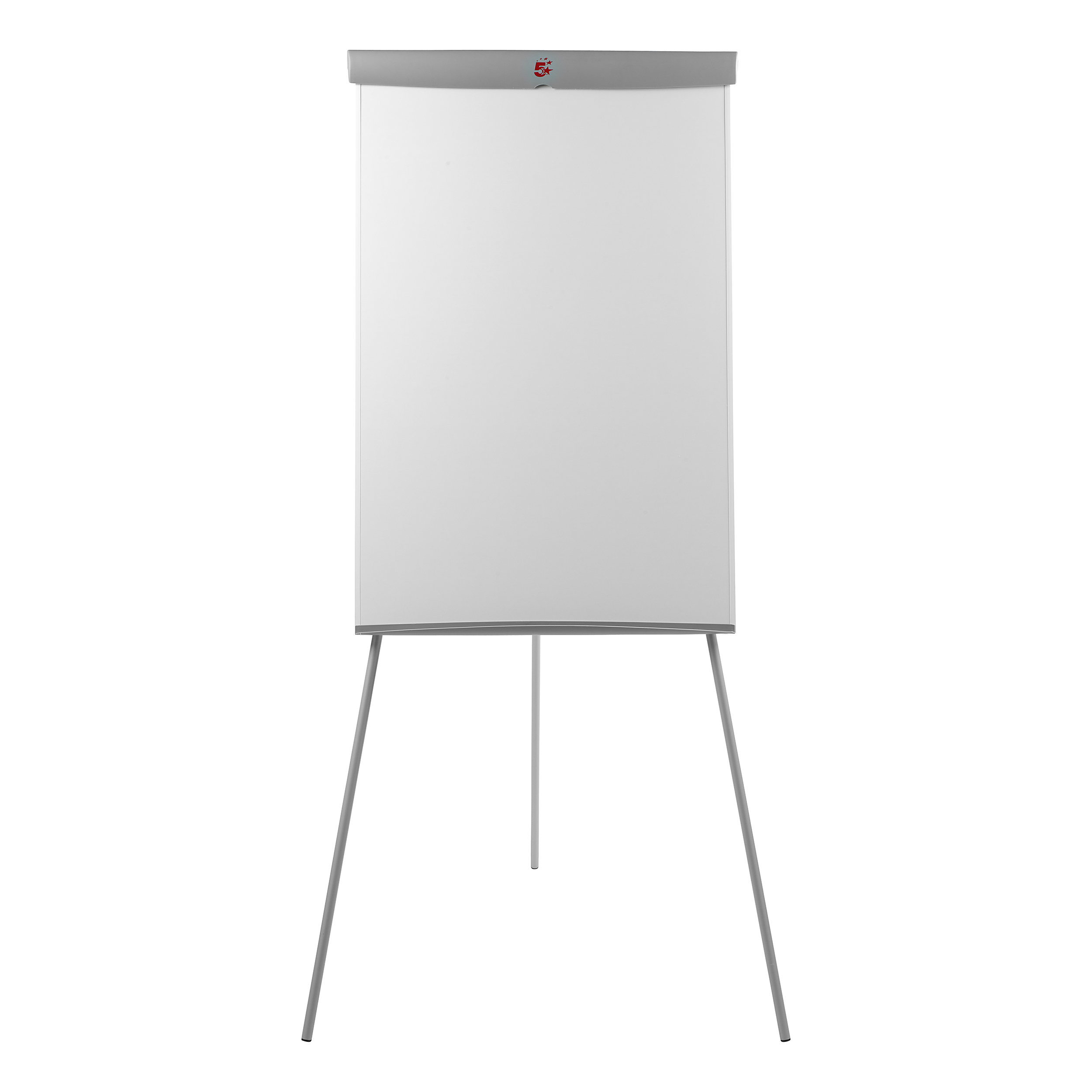 Easels 5 Star Office Flipchart Easel Telescopic Legs with W670xH990mm Board W700xD82xH1900mm Grey Trim