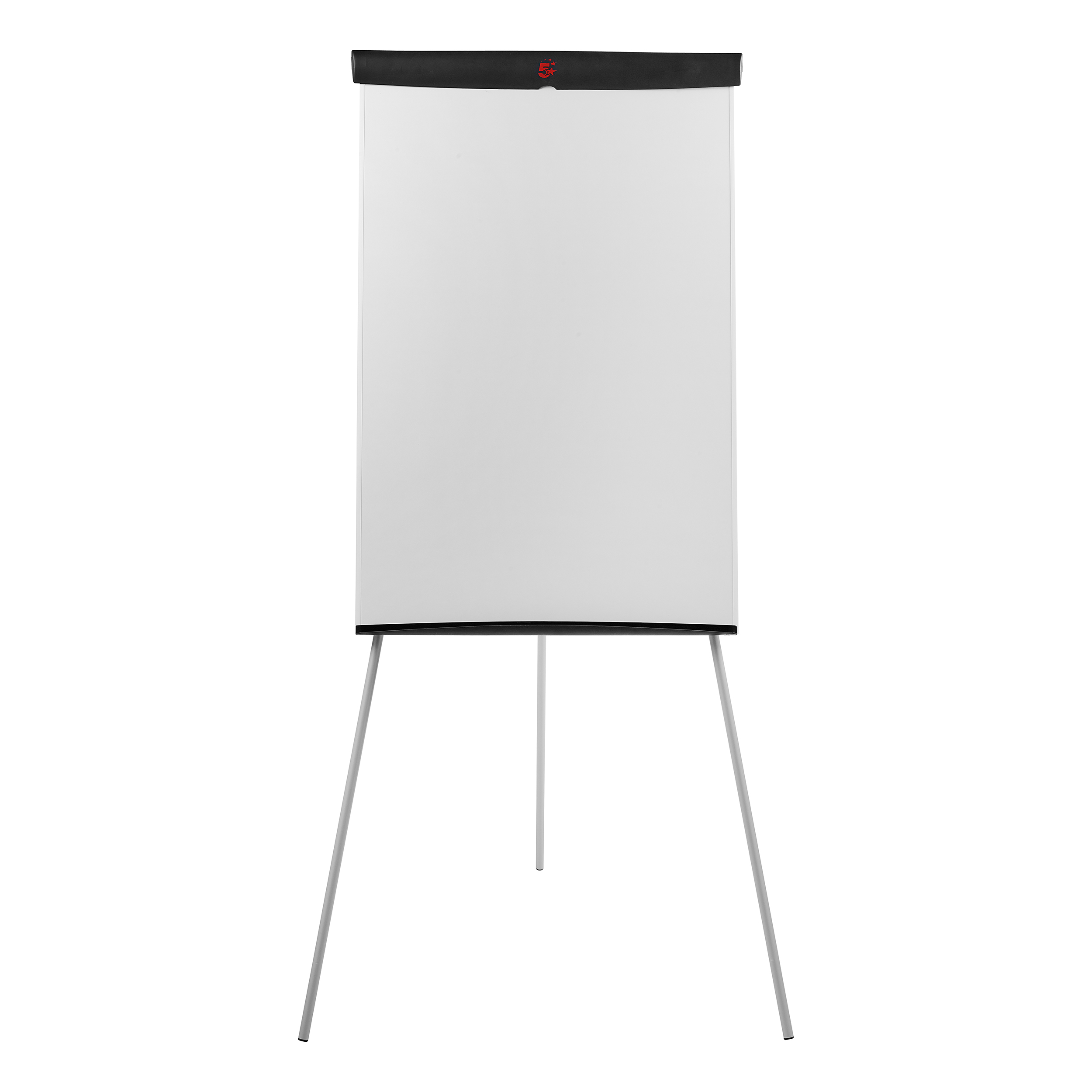 5 Star Office Flipchart Easel with W670xH990mm Board W700xD82xH1900mm Black Trim
