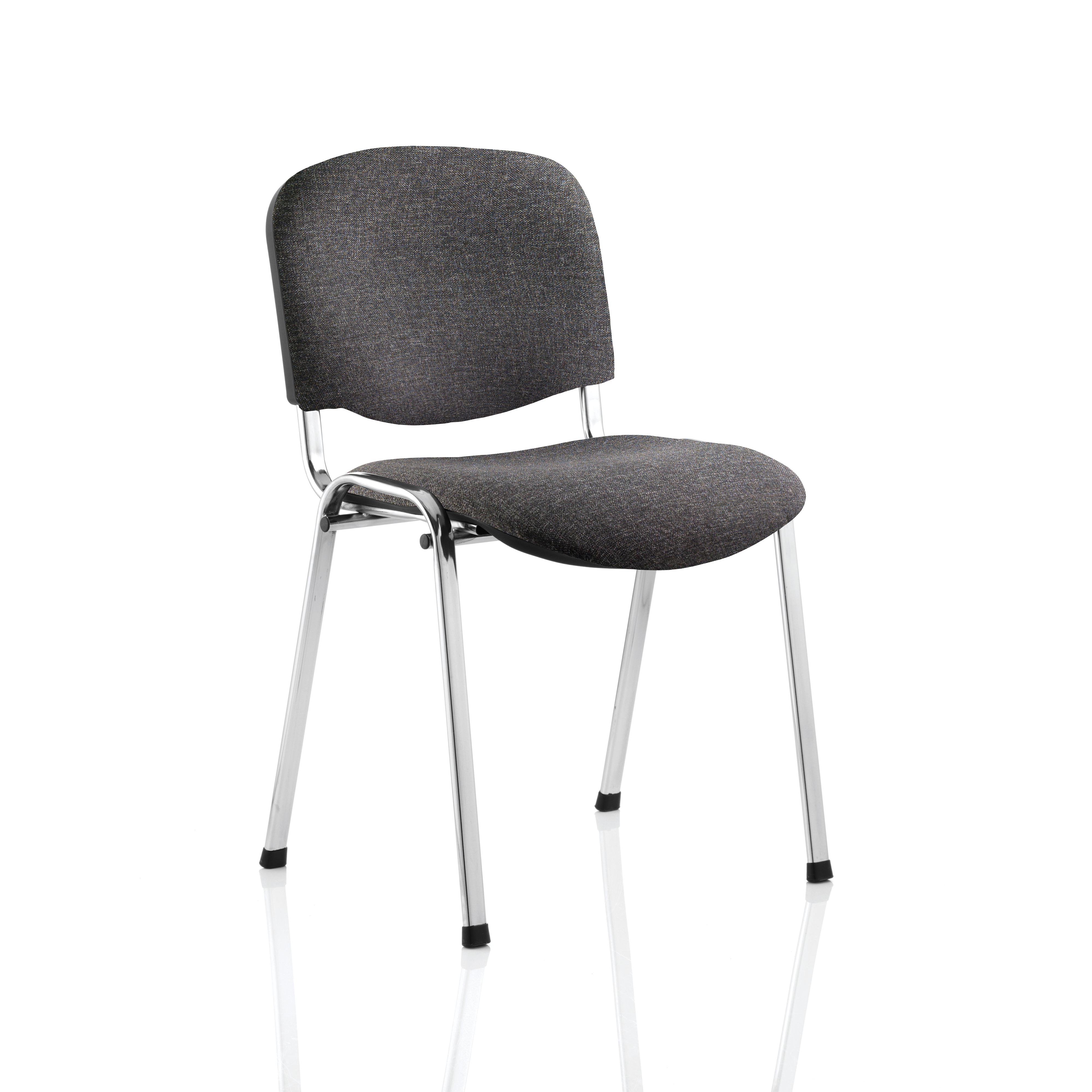 Trexus Stacking Chair Chrome Frame Charcoal 480x420x500mm Ref BR000069