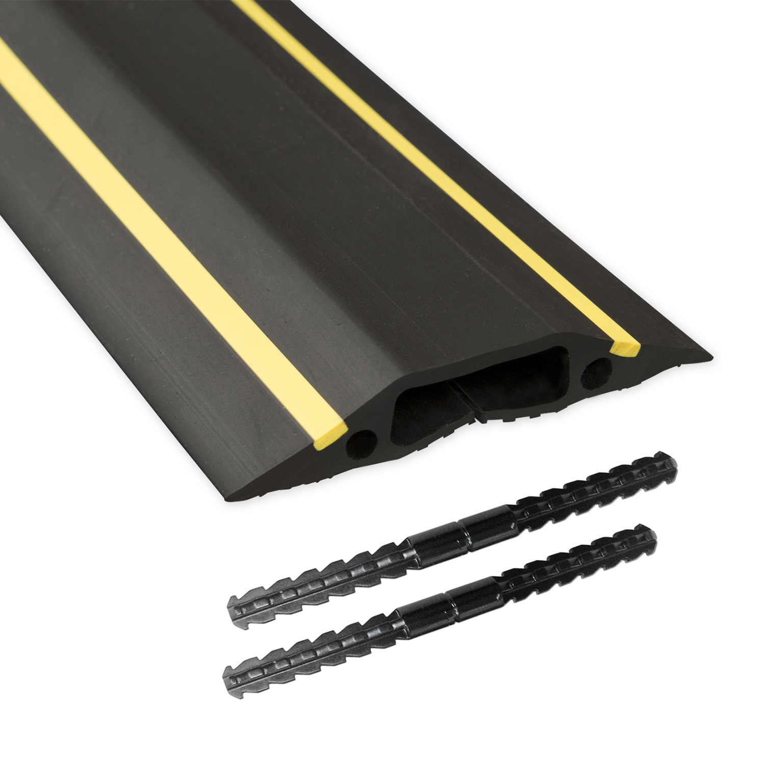 D-Line Floor Cable Cover 83mm x 1.8m Black and Yellow Ref FC83H